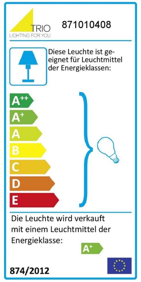 Energieeffizienz: LED-Deckenleuchte Levisto in messing matt, 4-flammig