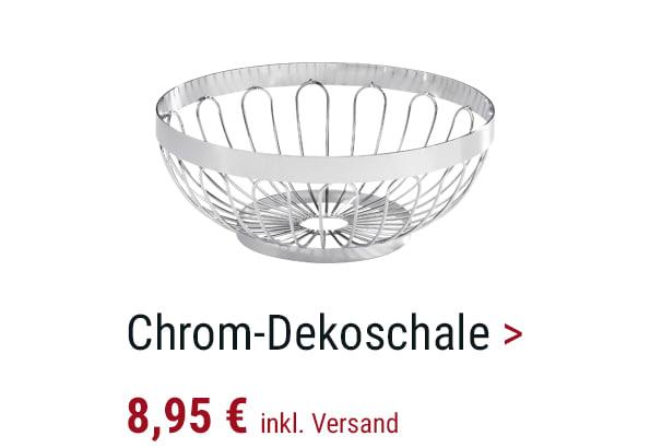 Chrom-Dekoschale