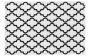 Designteppich my Black & White 391 in weiß, 80 x 150 cm weiß