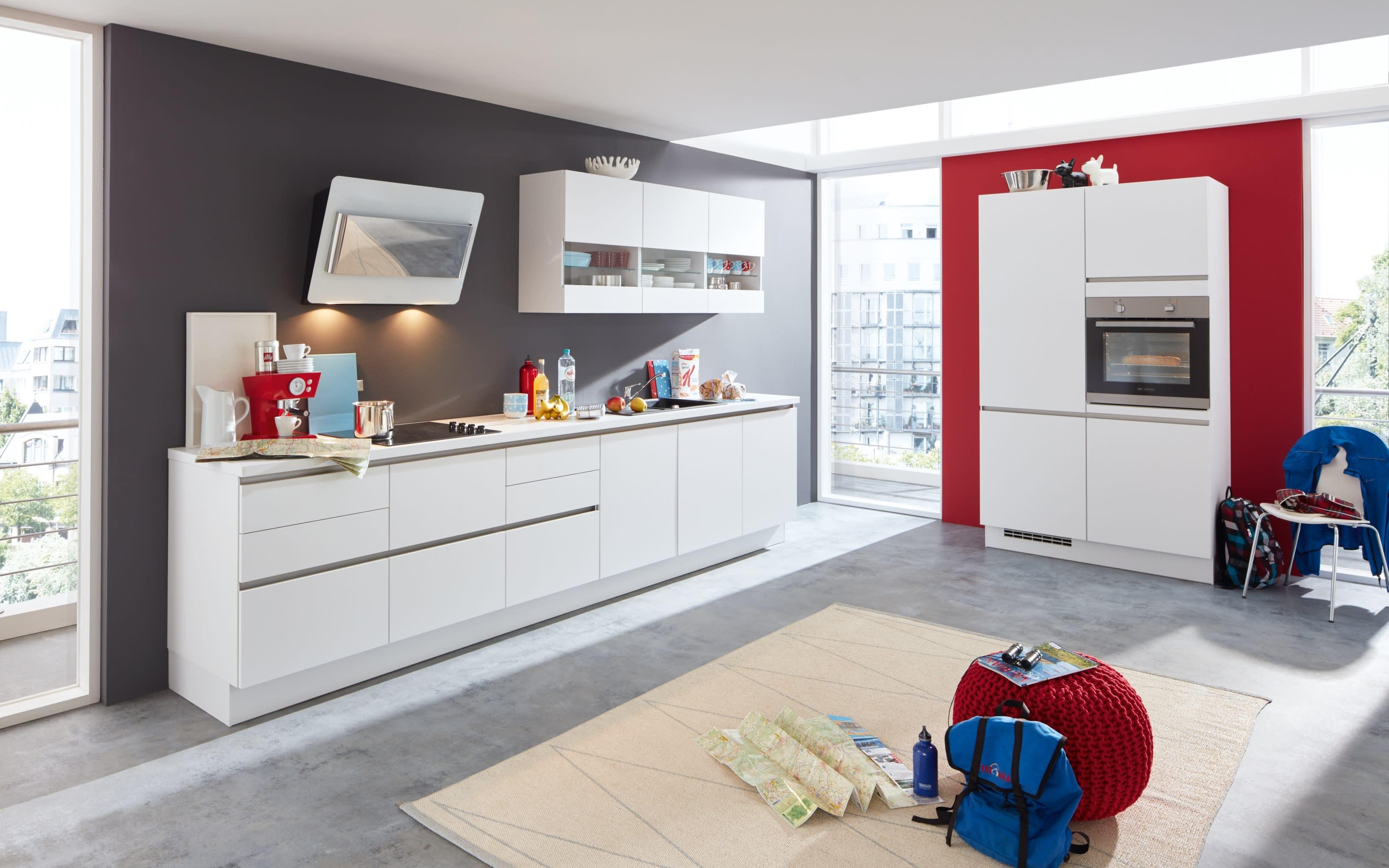 Einbauküche Laser, alpinweiß, inklusive Elektrogeräte, inklusive AEG Geschirrspüler
