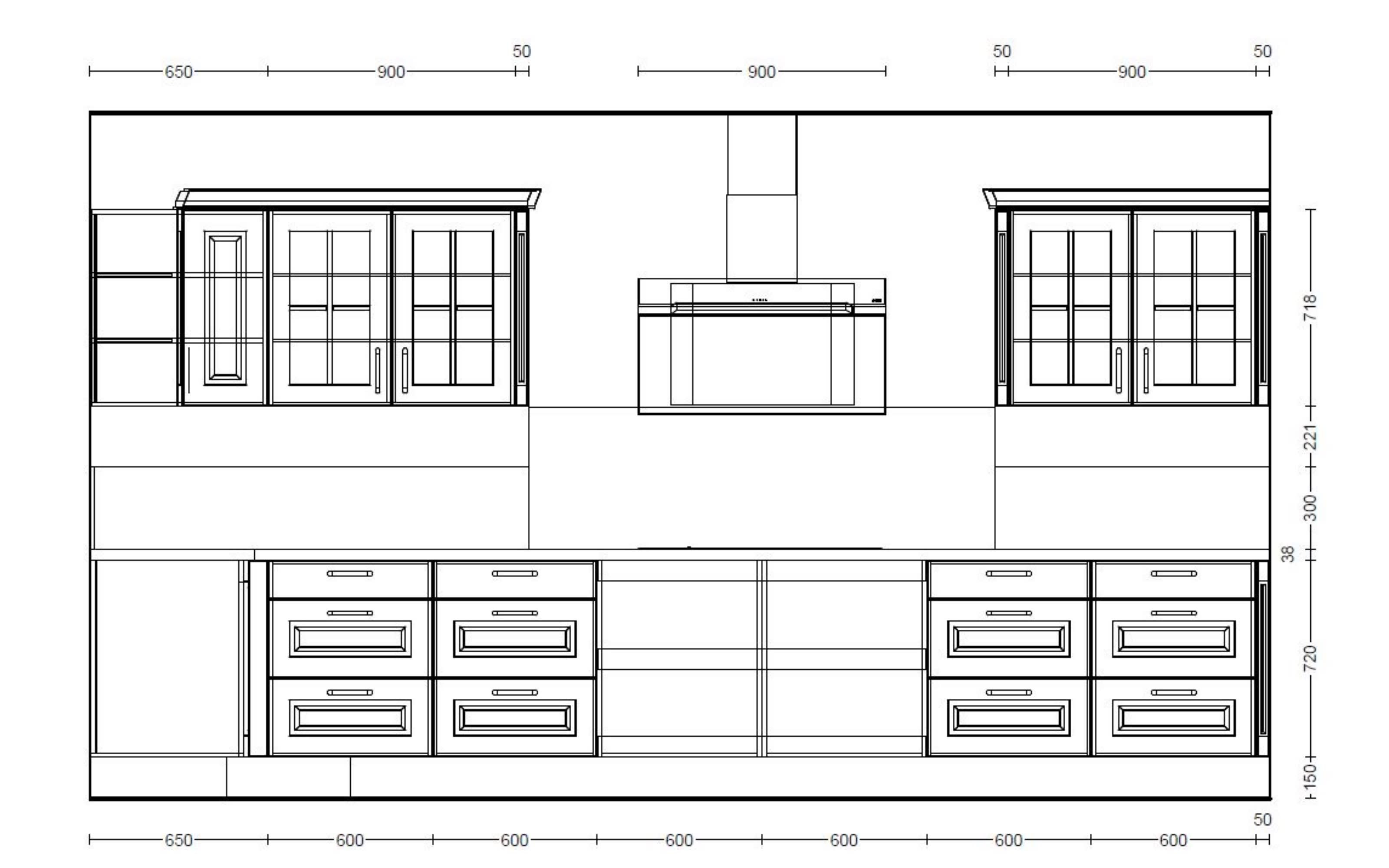 Einbauküche Sylt, Lack schwarz matt, inklusive Elektrogeräte