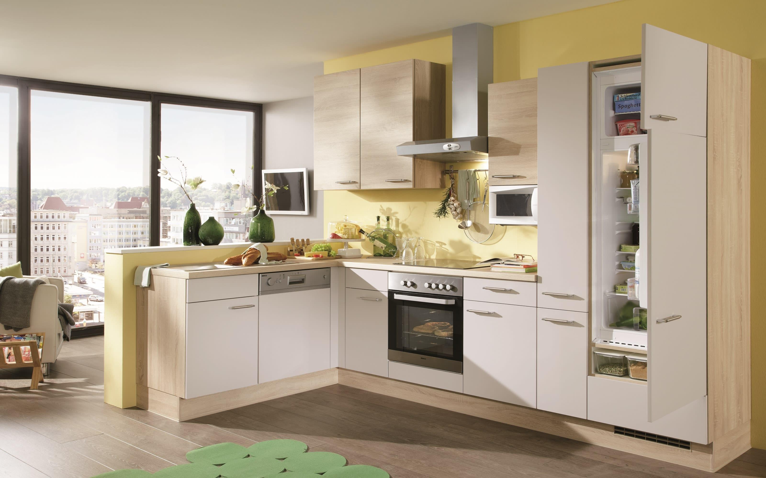 Einbauküche Speed 351, magnolia softmatt, inklusive Elektrogeräte