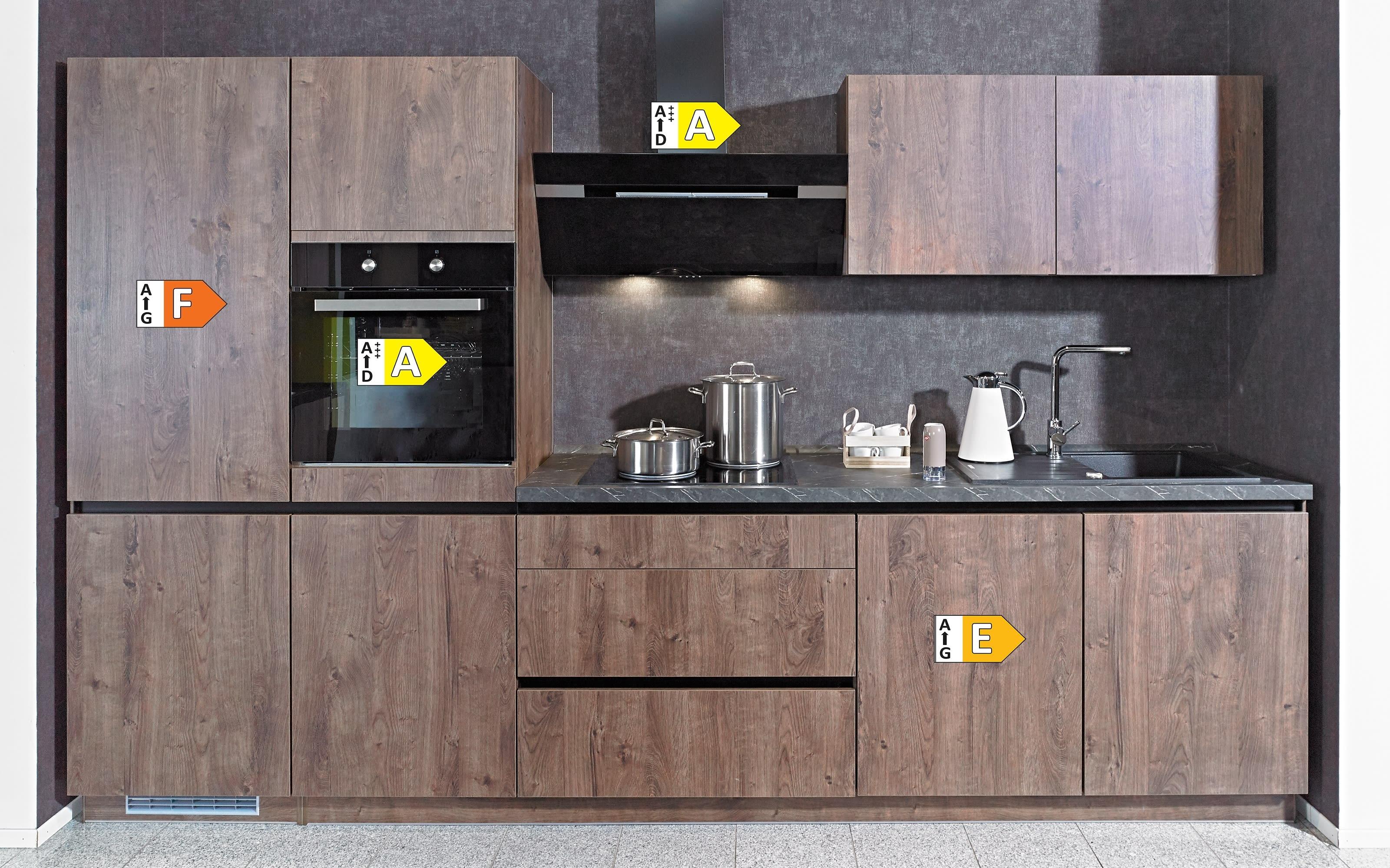Einbauküche IP2200, Oregon Eiche-Nachbildung, inklusive Elektrogeräte