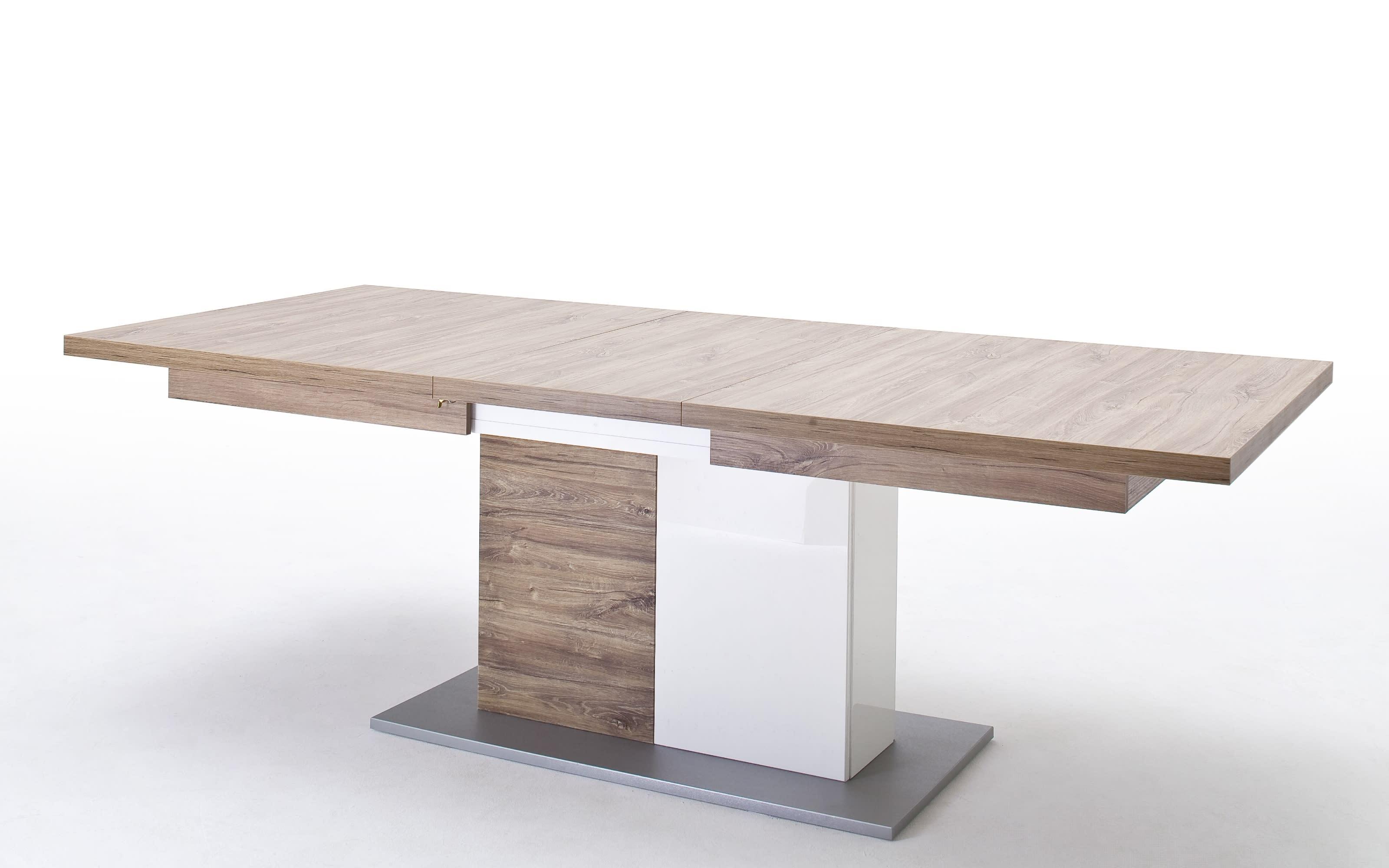 Esstisch Luzern in Sterling Oak-Nachbildung, mit ausziehbarer Tischplatte