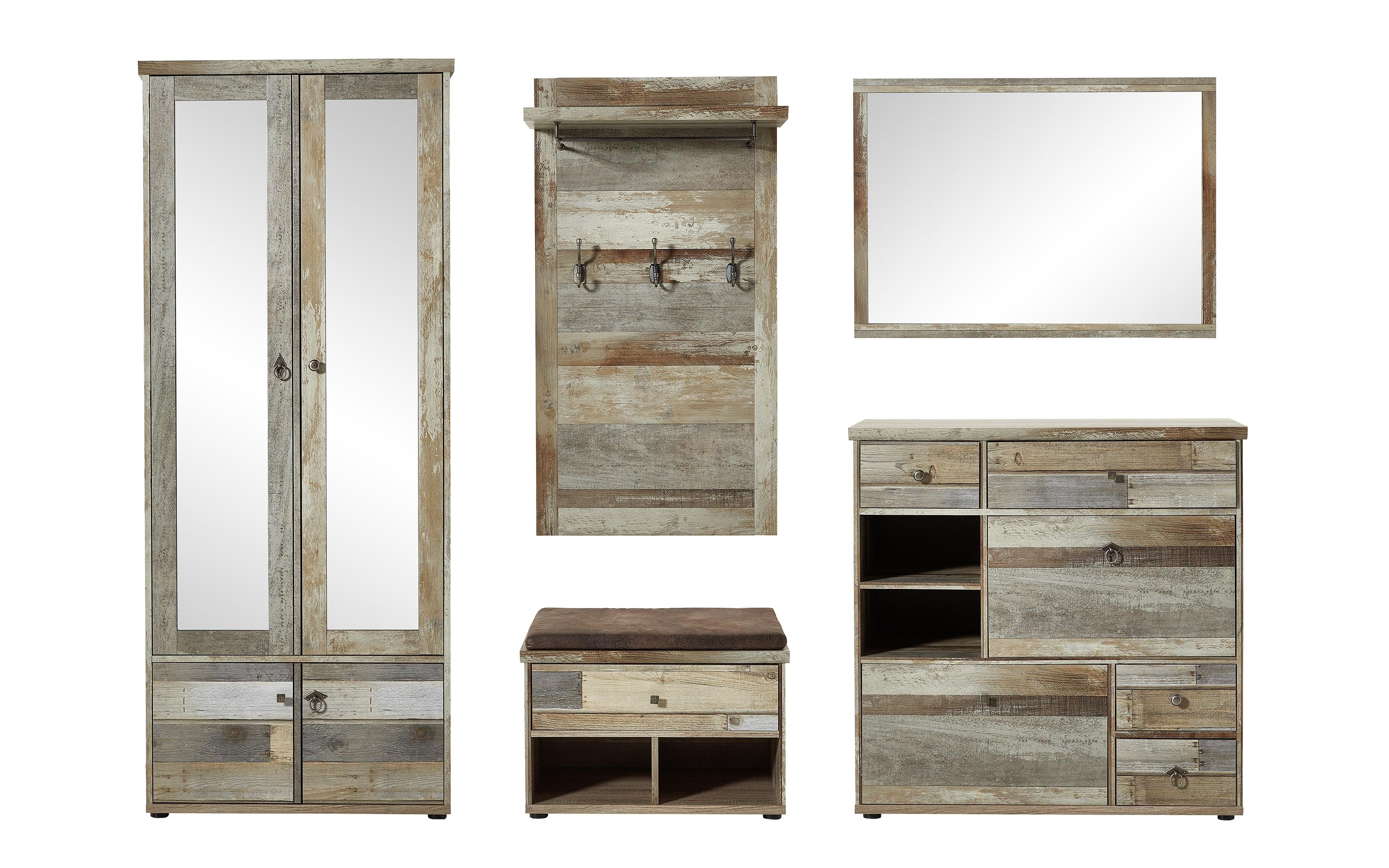Spiegel Bonanza in Driftwood-Nachbildung, 97 x 70 cm