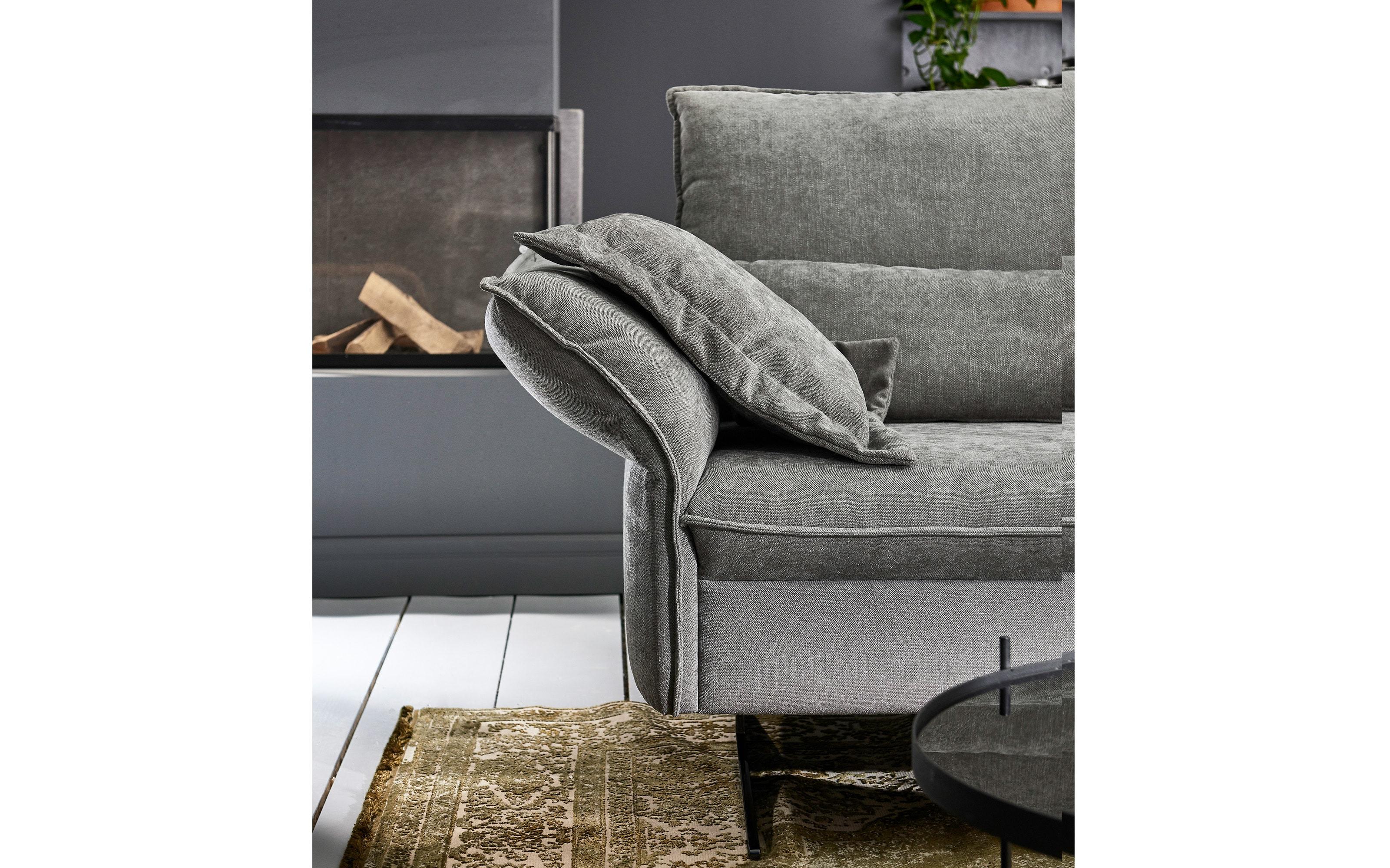 Wohnlandschaft TS 233 in grey, inklusive manuelle Sitztiefenverstellung