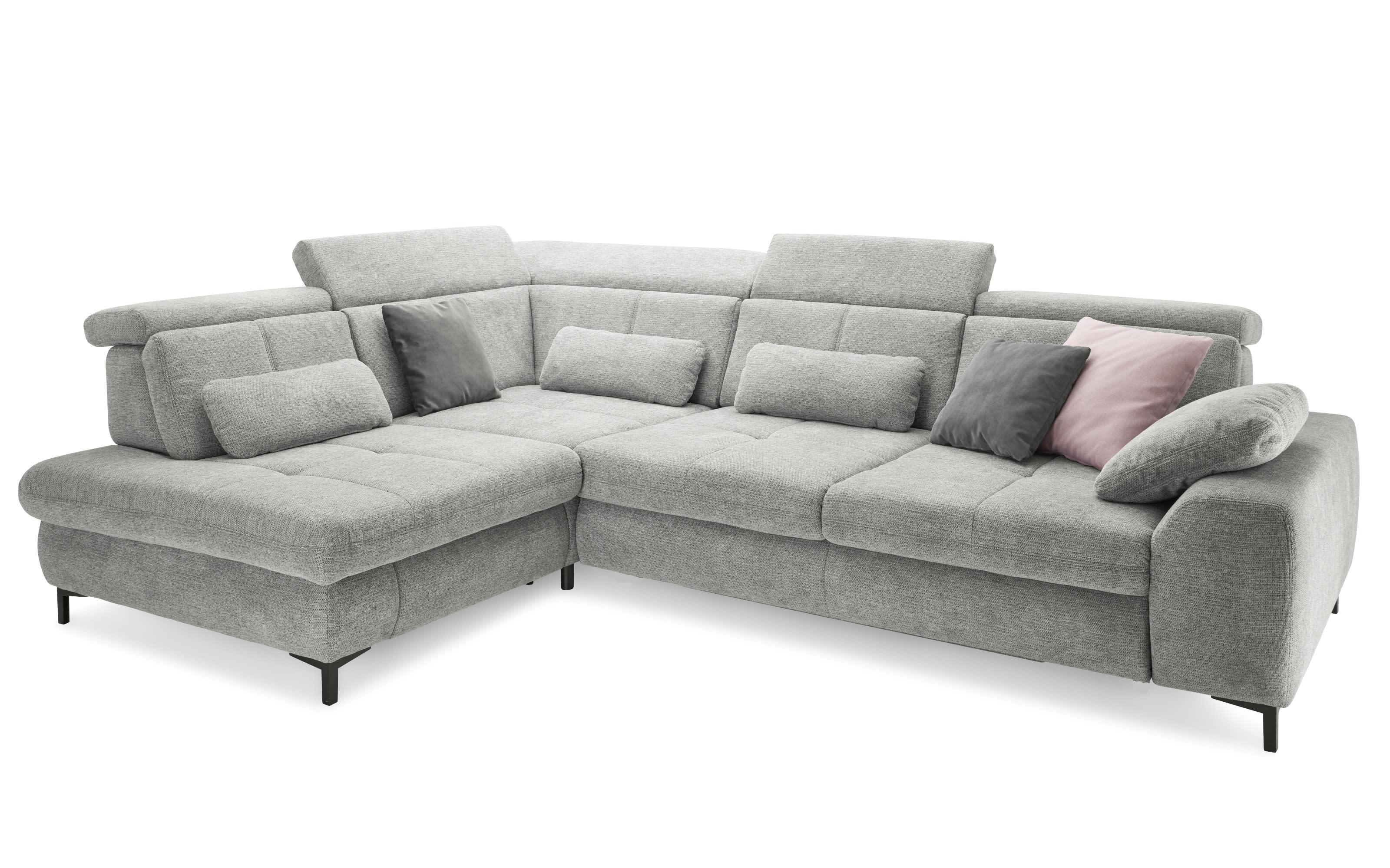 Wohnlandschaft SO 3400 in grey, inklusive Sitztiefenverstellung