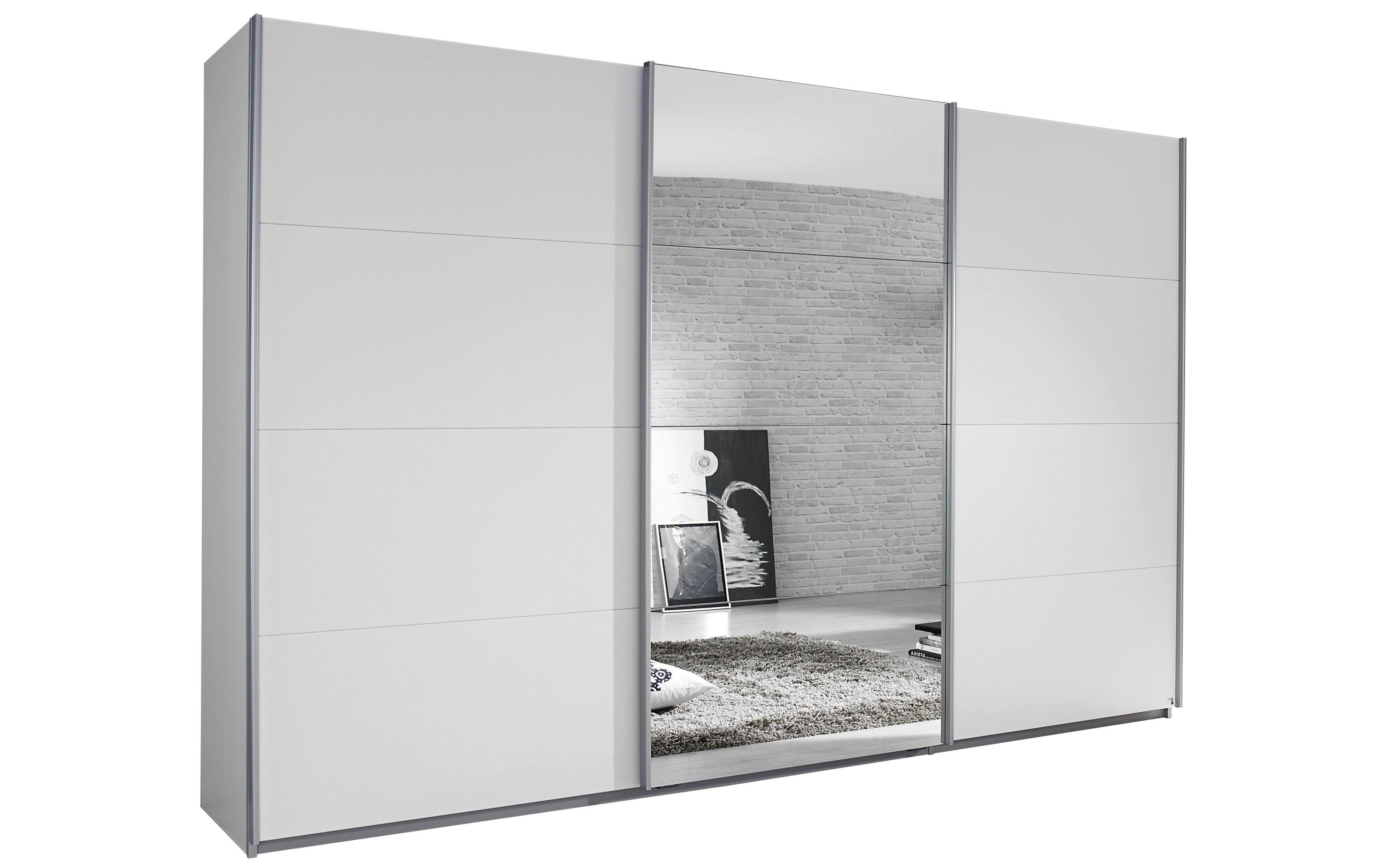 Schwebetürenschrank Kulmbach-A in weiß, Breite 361 cm, Höhe 229 cm