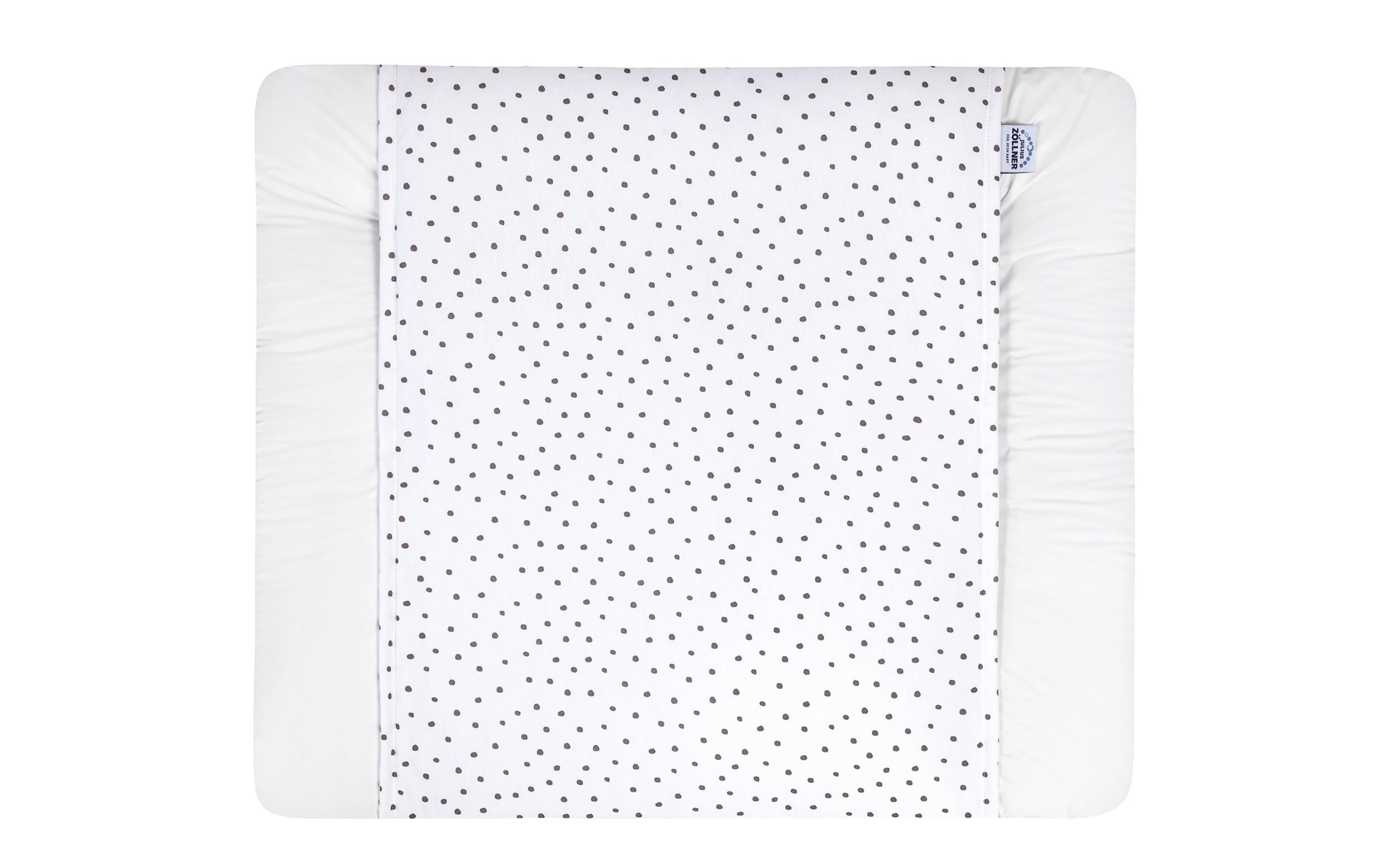 Schutzbezug Loop für Wickelauflage Softy in weiß mit Punkten in grau