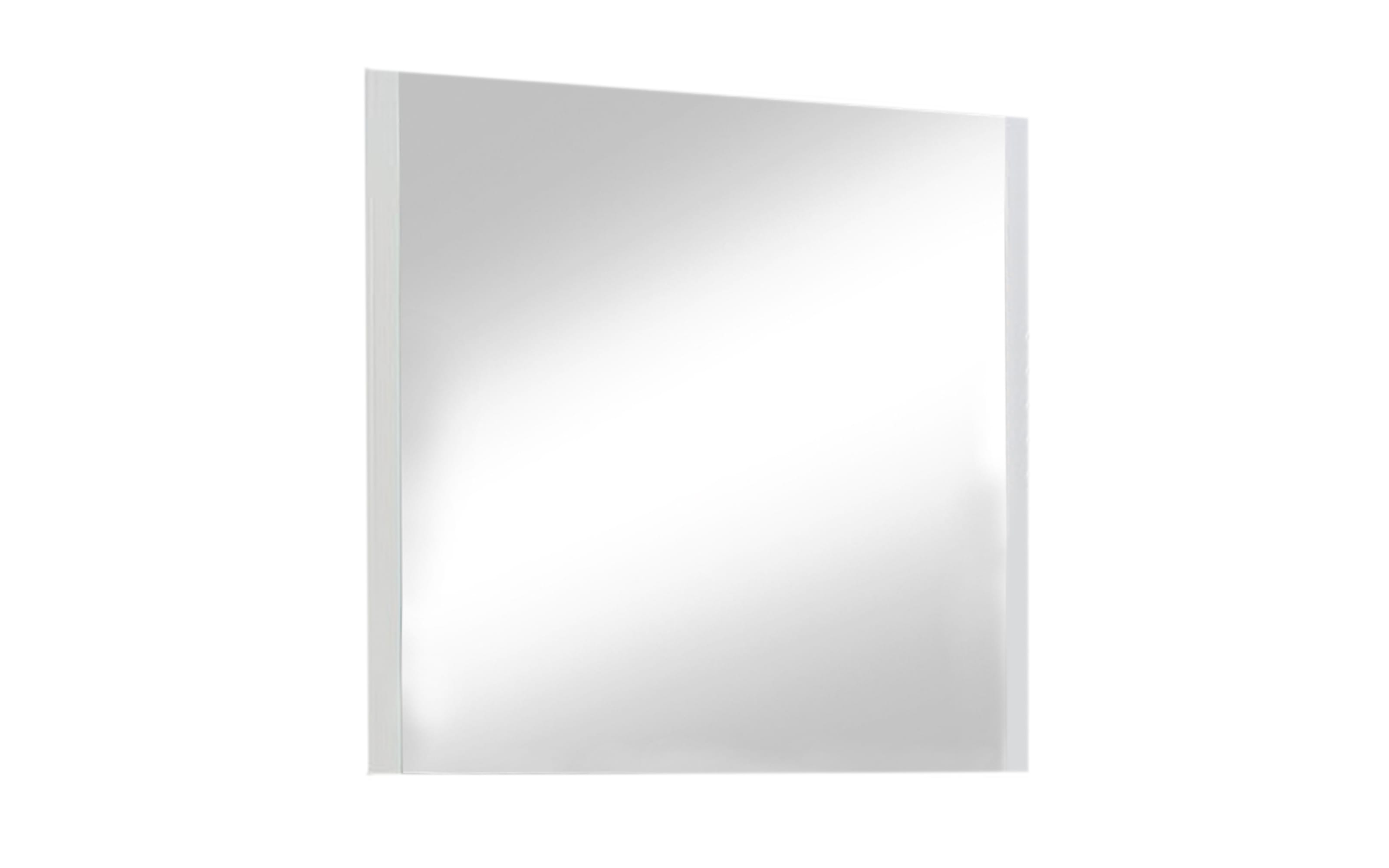 Garderobenspiegel Una in weiß, 80 x 79 cm