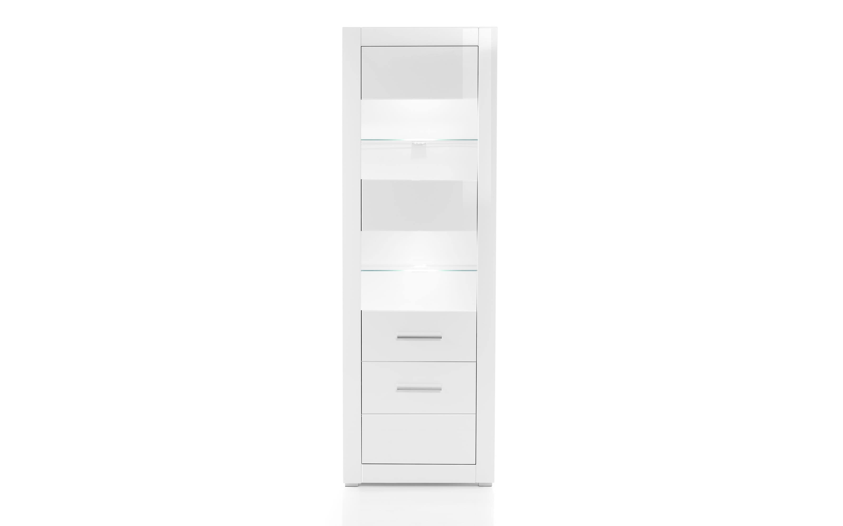 Vitrine Bianco in weiß/ Hochglanz