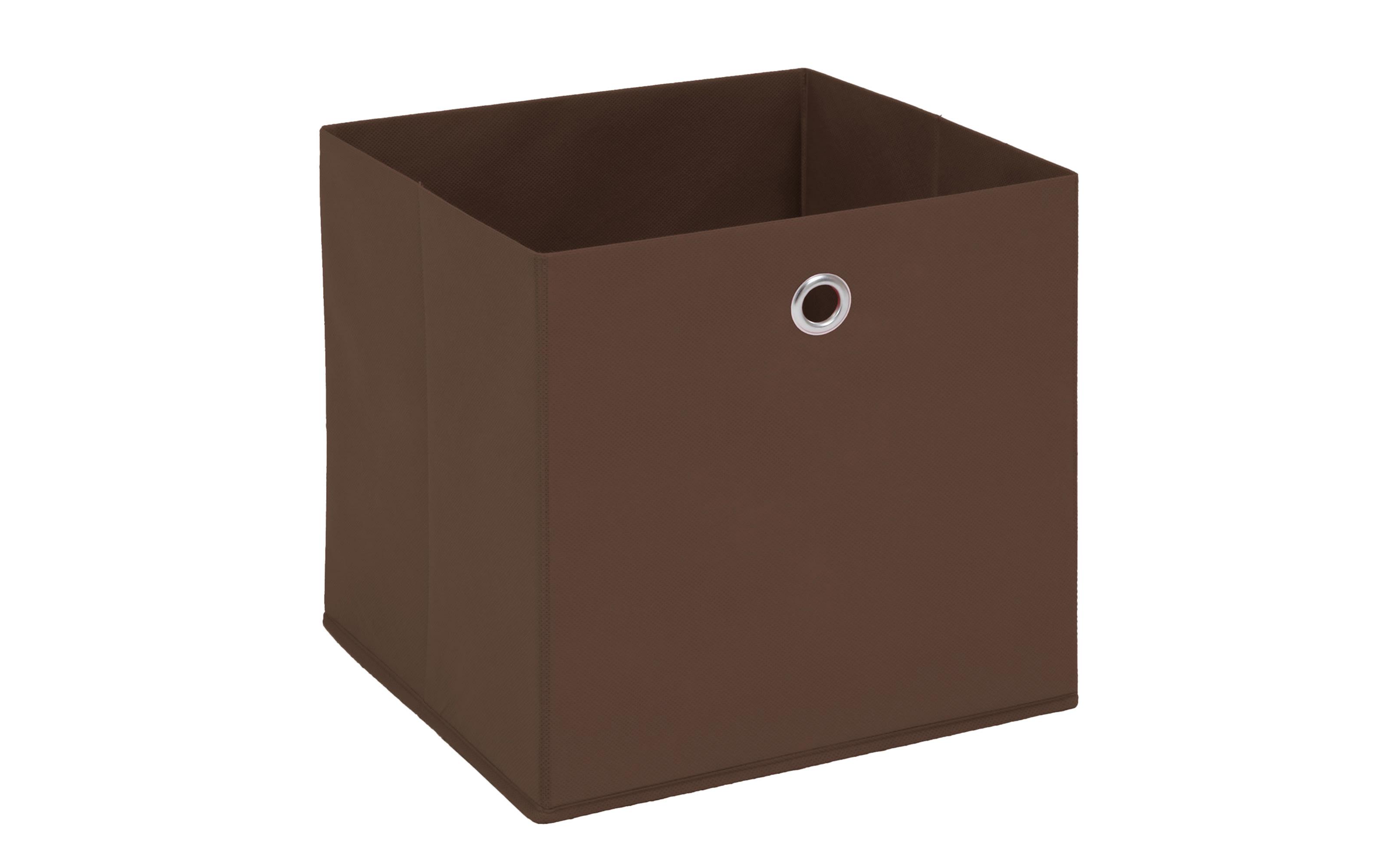 Aufbewahrungsbox in braun, 32 x 32 cm