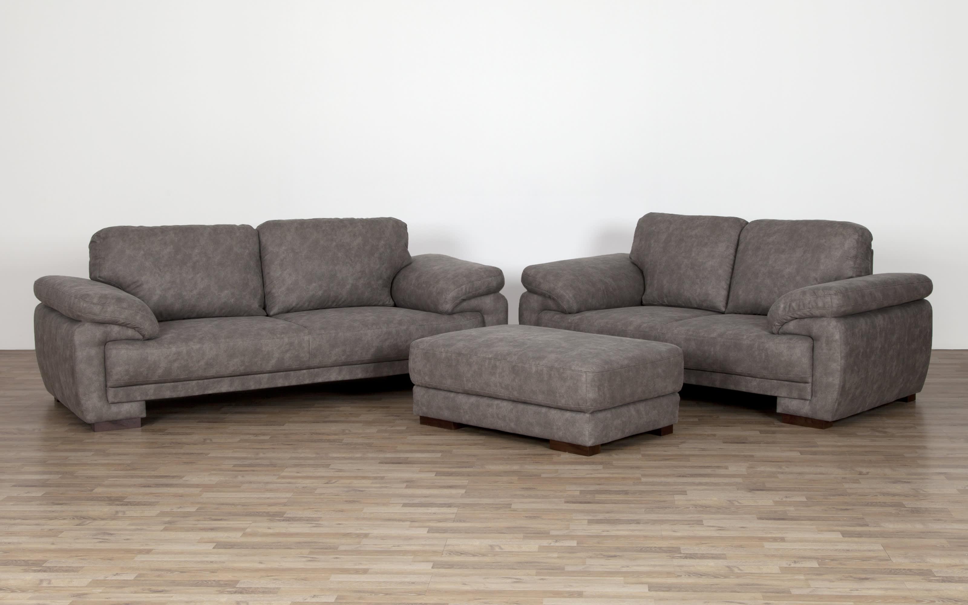 Sofa Neve 12 Sitzer in grau meliert