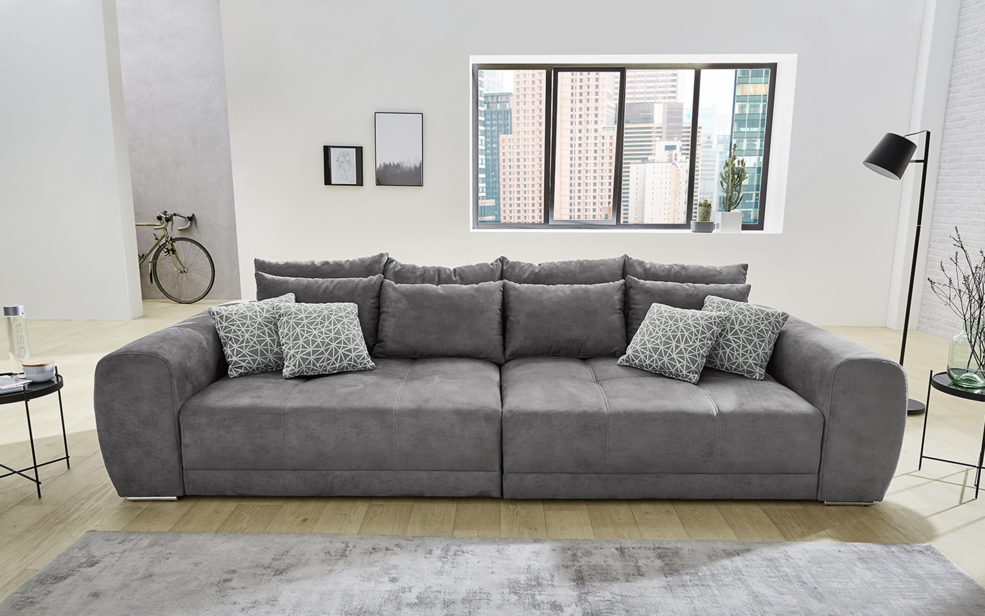 Big Sofa Moldau in grau