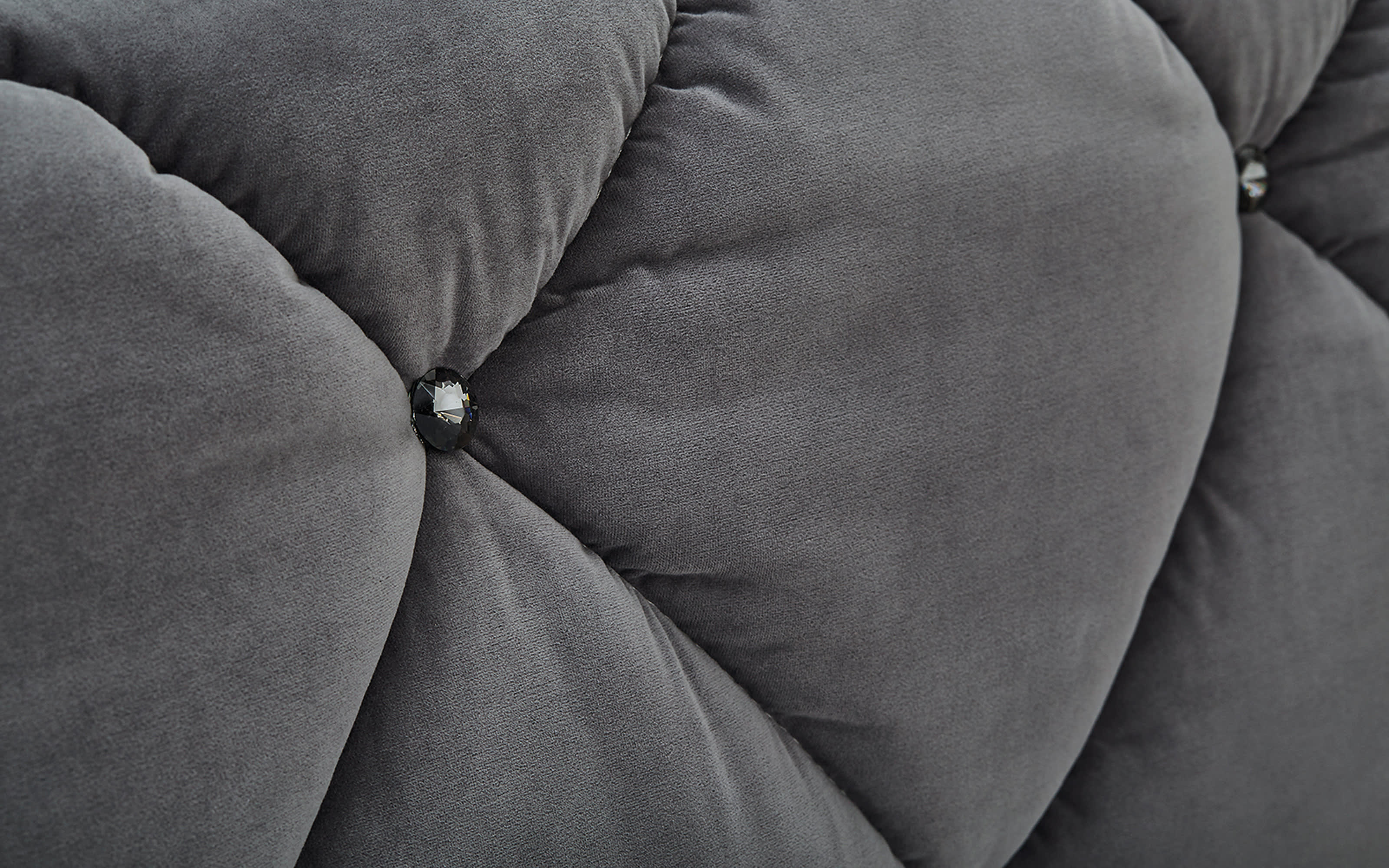 Boxspringbett Bella in grau, 2 x Matratze in medium