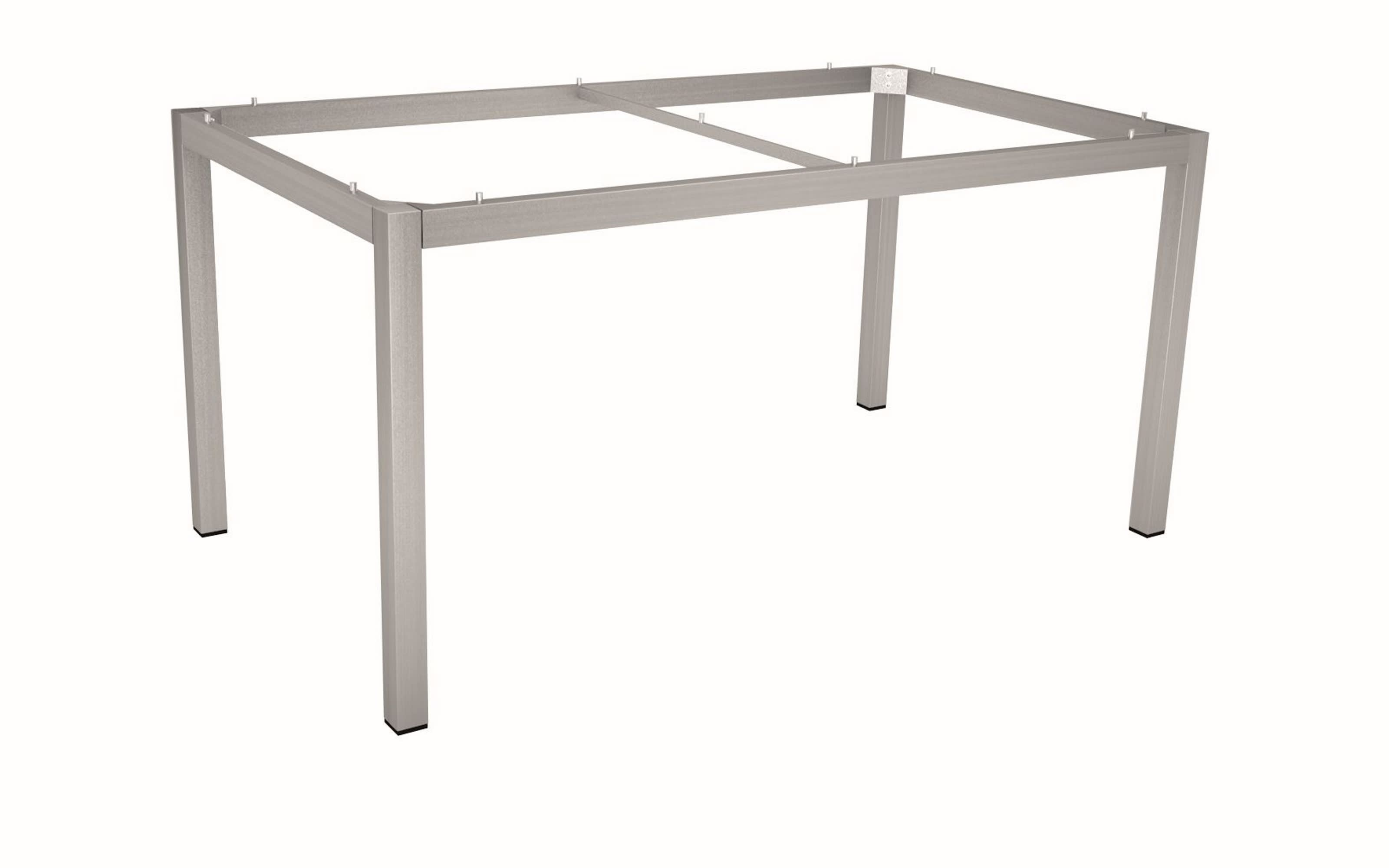 Gartentischgestell 101501 aus Edelstahl in silber