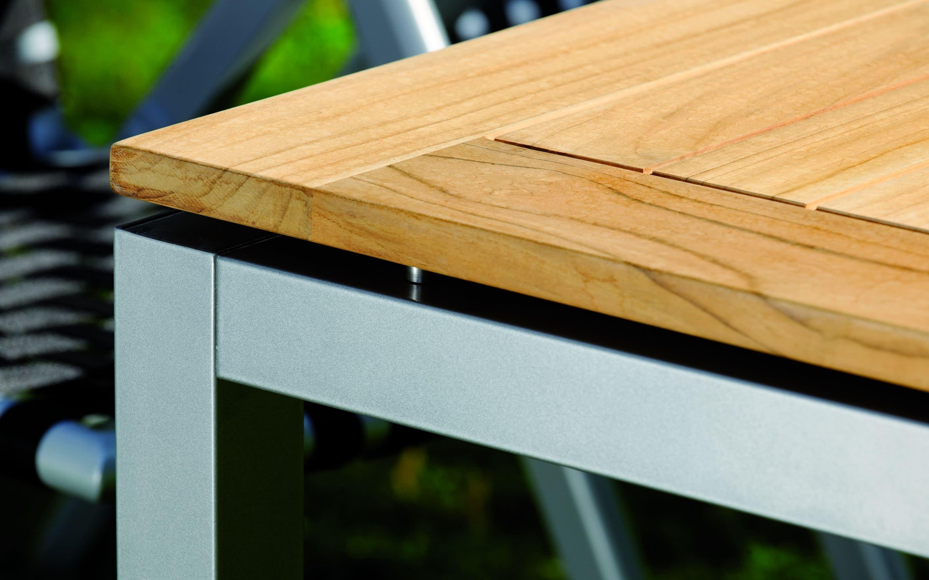 Gartentischplatte Silverstar 2.0 in Teak