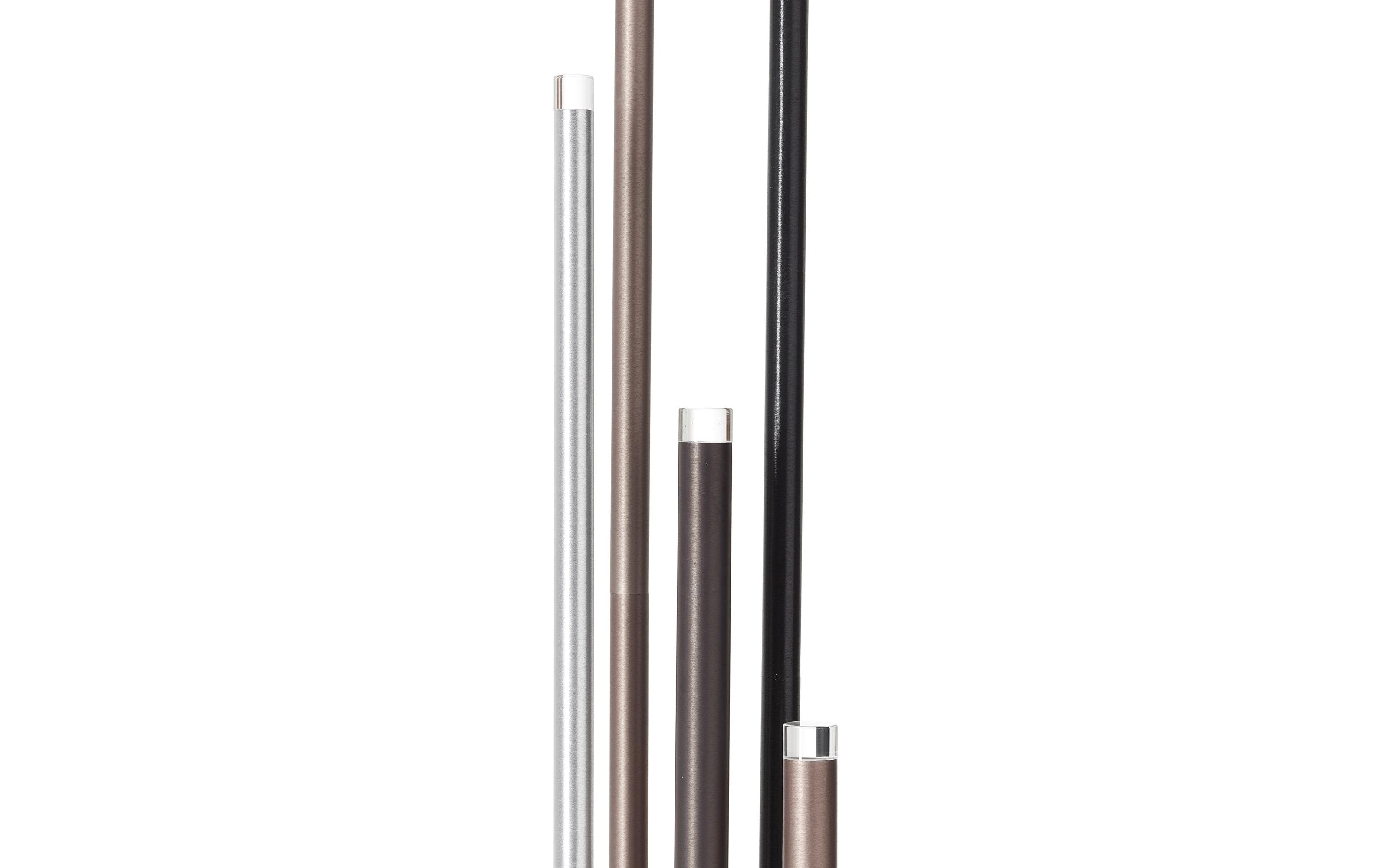 LED-Standleuchte Cembalo in braun/schwarz/alu, 155 cm