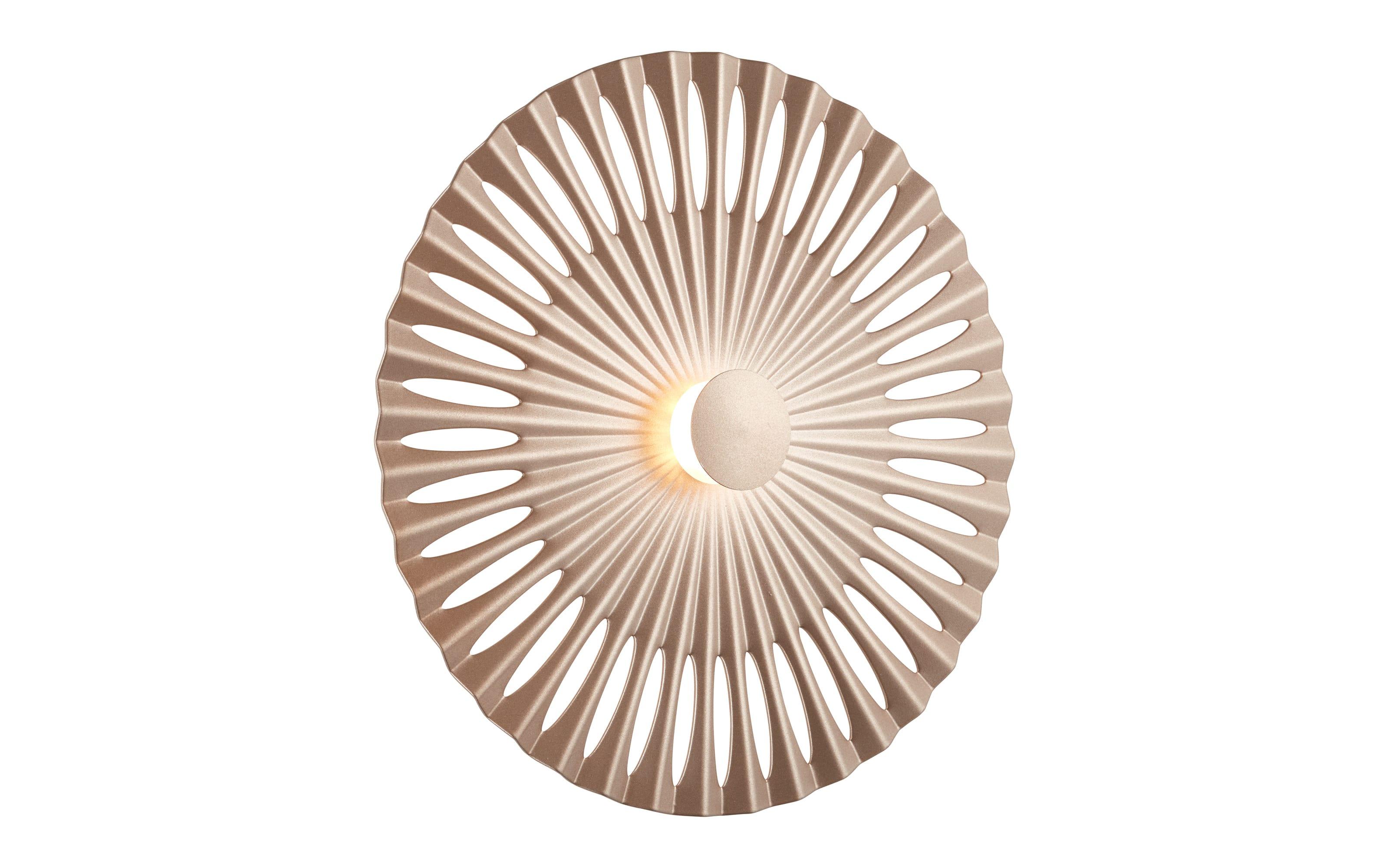 LED-Wandleuchte Phinx in braun