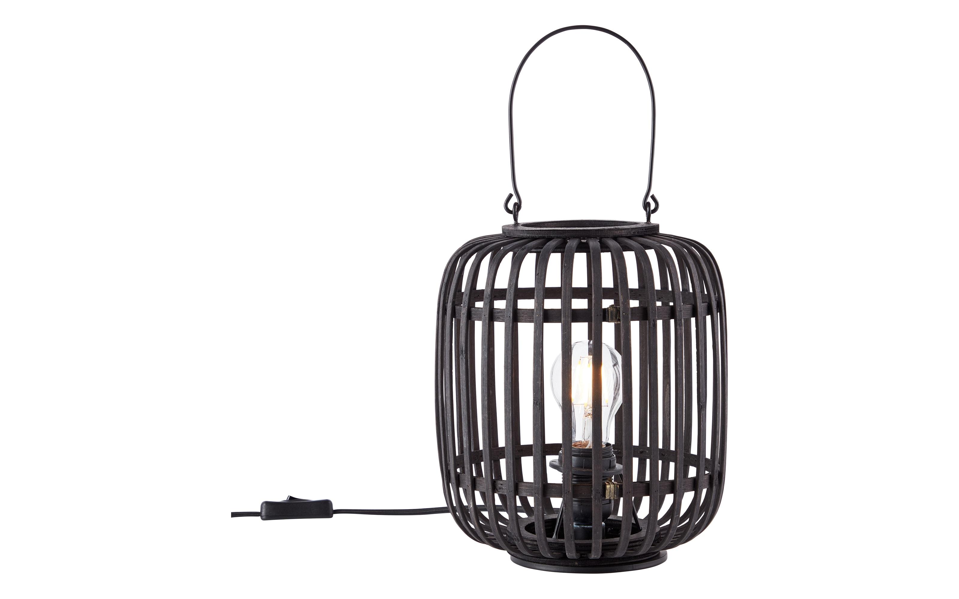 Tischleuchte Woodrow in schwarz/Holz-Dekor