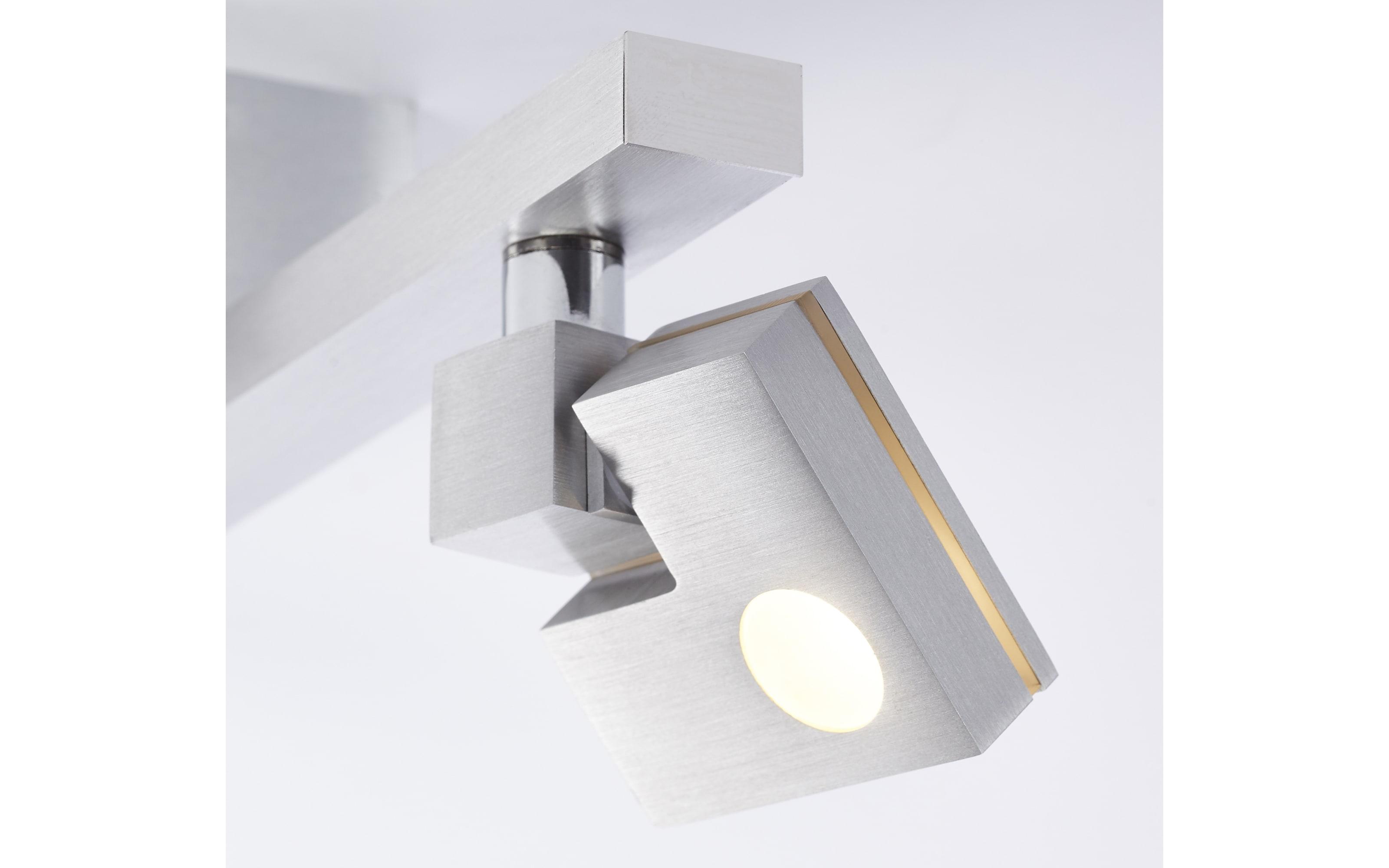 LED-Deckenleuchte Degree in silberfarbig, 2-flammig