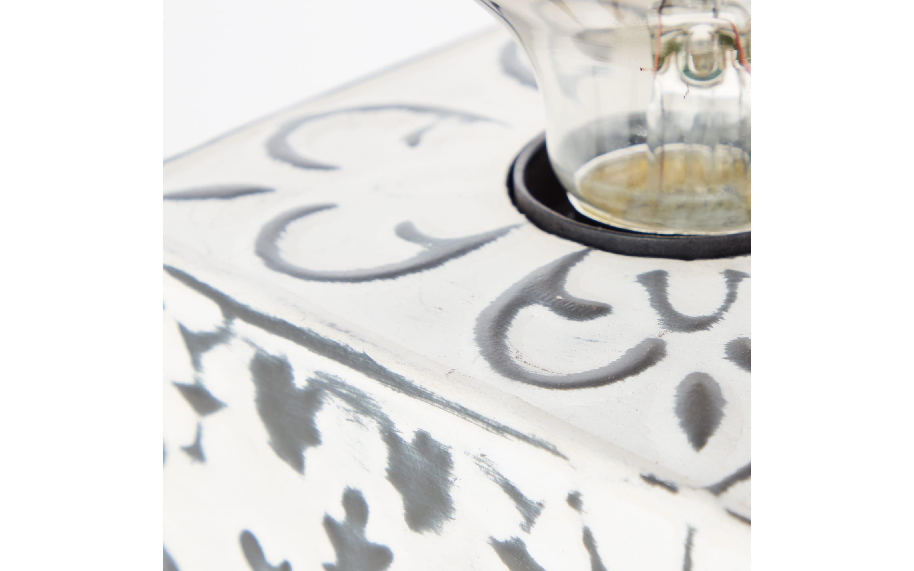 Tischleuchte Vagos in cremefarbig, 10 cm