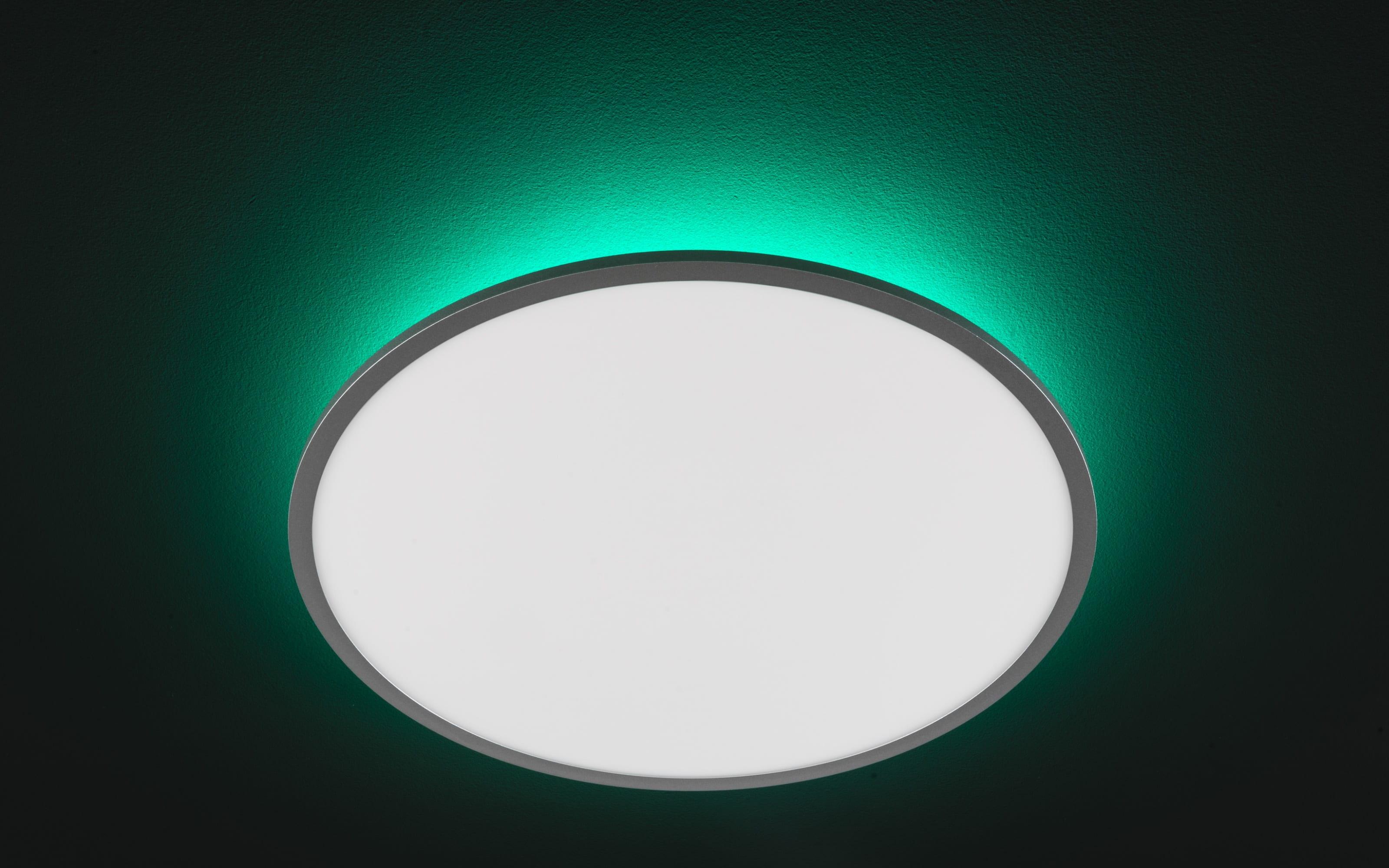 LED-Deckenleuchte Linox CCT RGB in silberfarbig/weiß, 60 cm