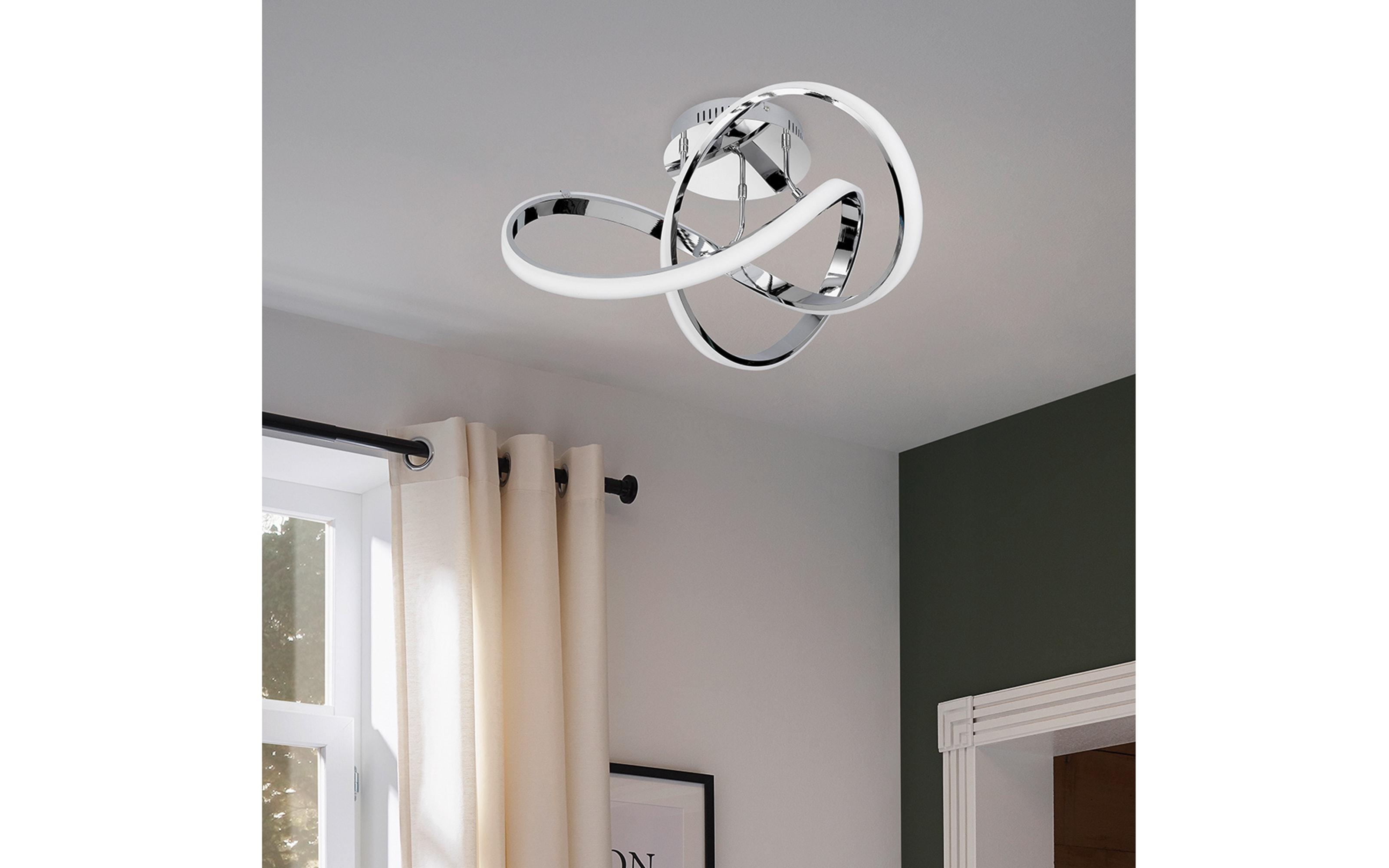 LED-Deckenleuchte Indigo in chromfarbig