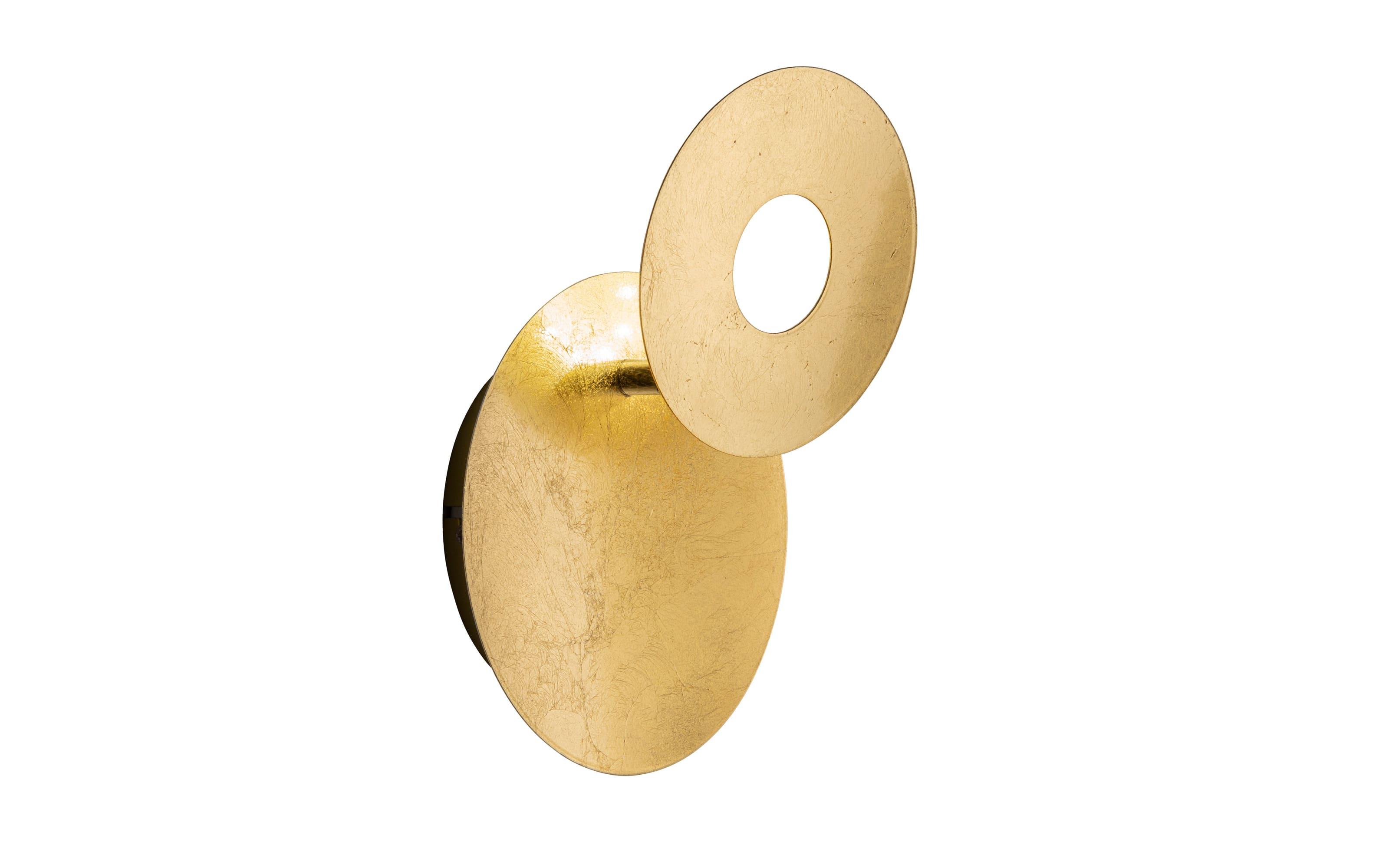 LED-Wandleuchte Afir in goldfarbig