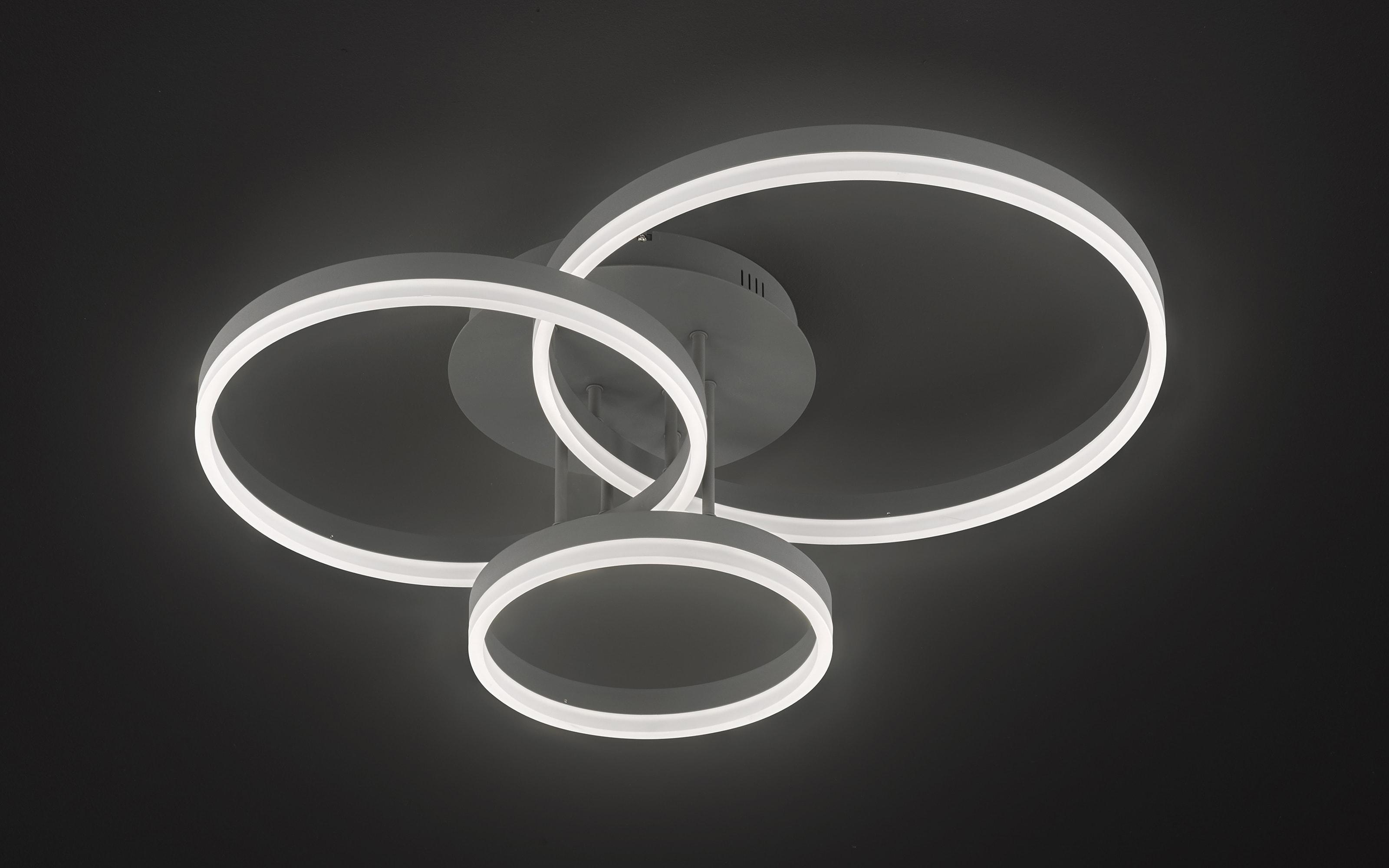 LED-Deckenleuchte Vaasa in dunkelgrau, 3-flammig