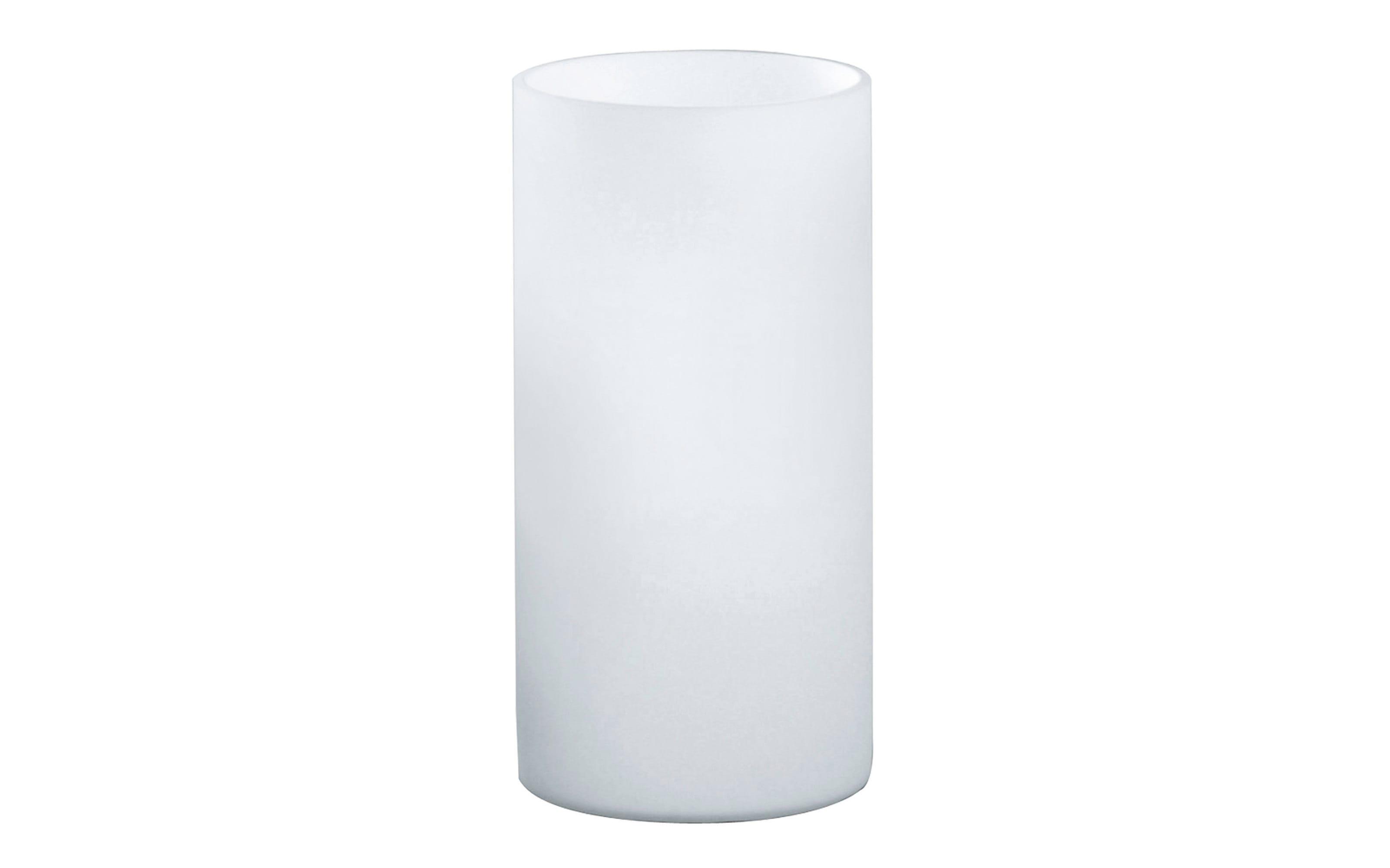 Tischleuchte Geo in opalweiß, 20 cm