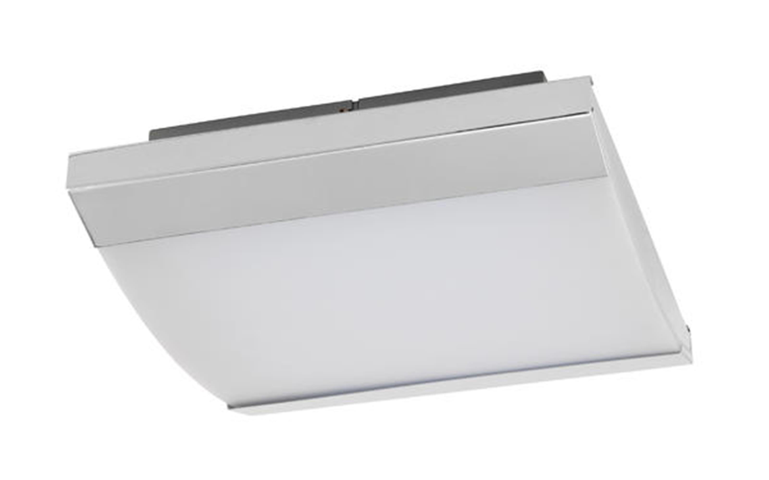 LED-Spiegelleuchte Siderno in chromfarbig, 34,5 x 35 cm