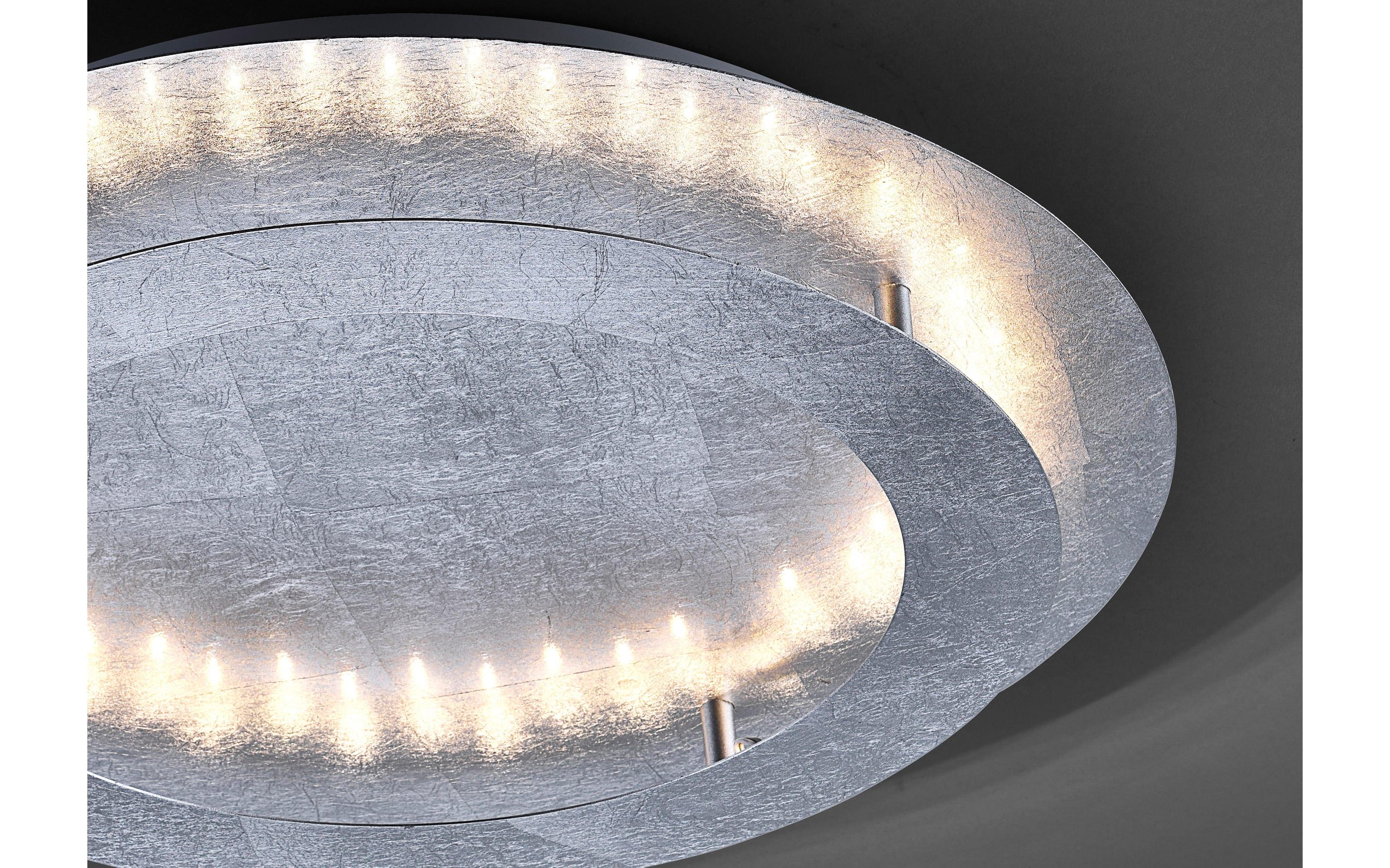 LED-Deckenleuchte Nevis in silberfarbig, 50 cm