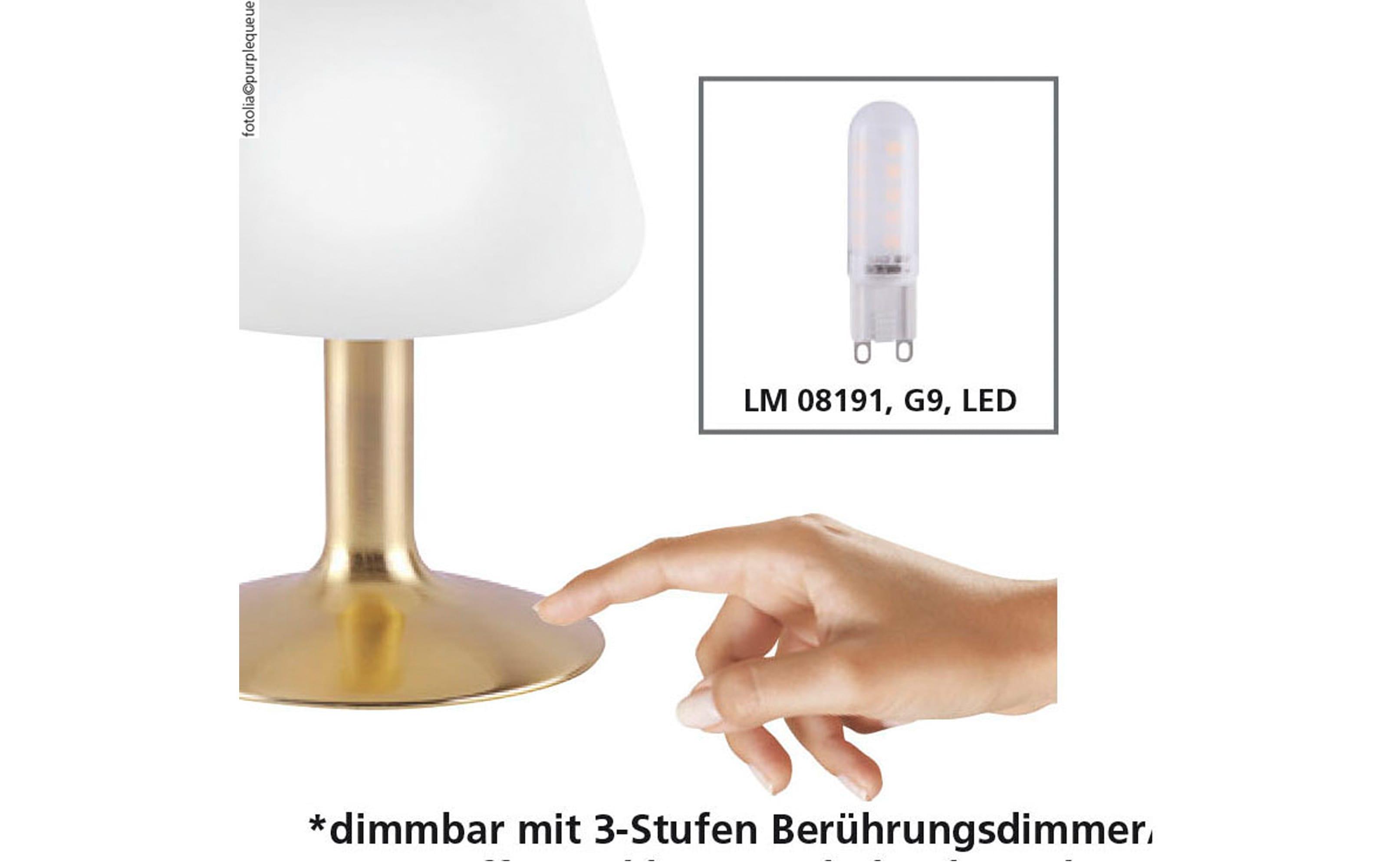 LED-Tischleuchte Till in stahlfarbig