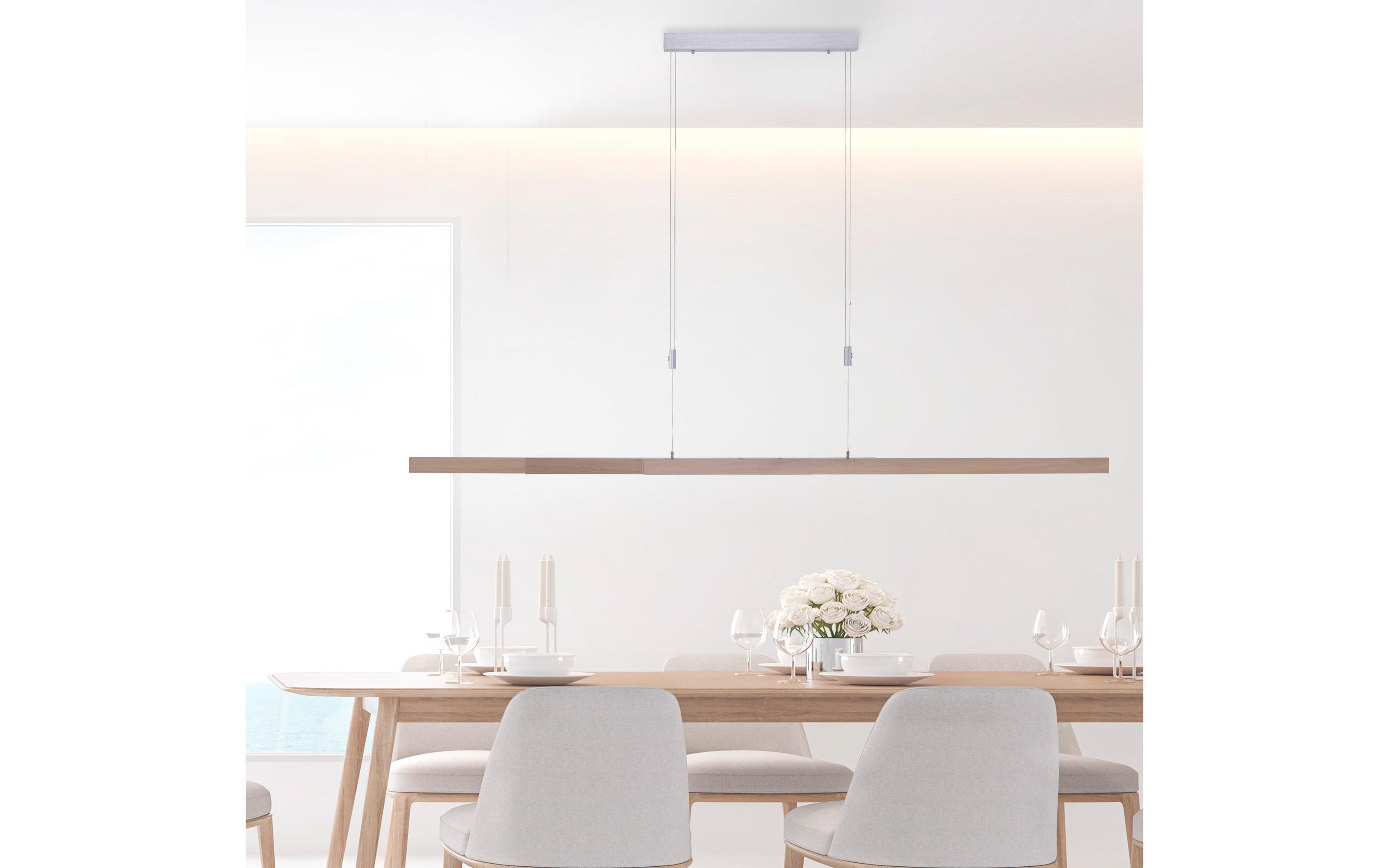 LED-Pendelleuchte Adriana mit Holzdekor