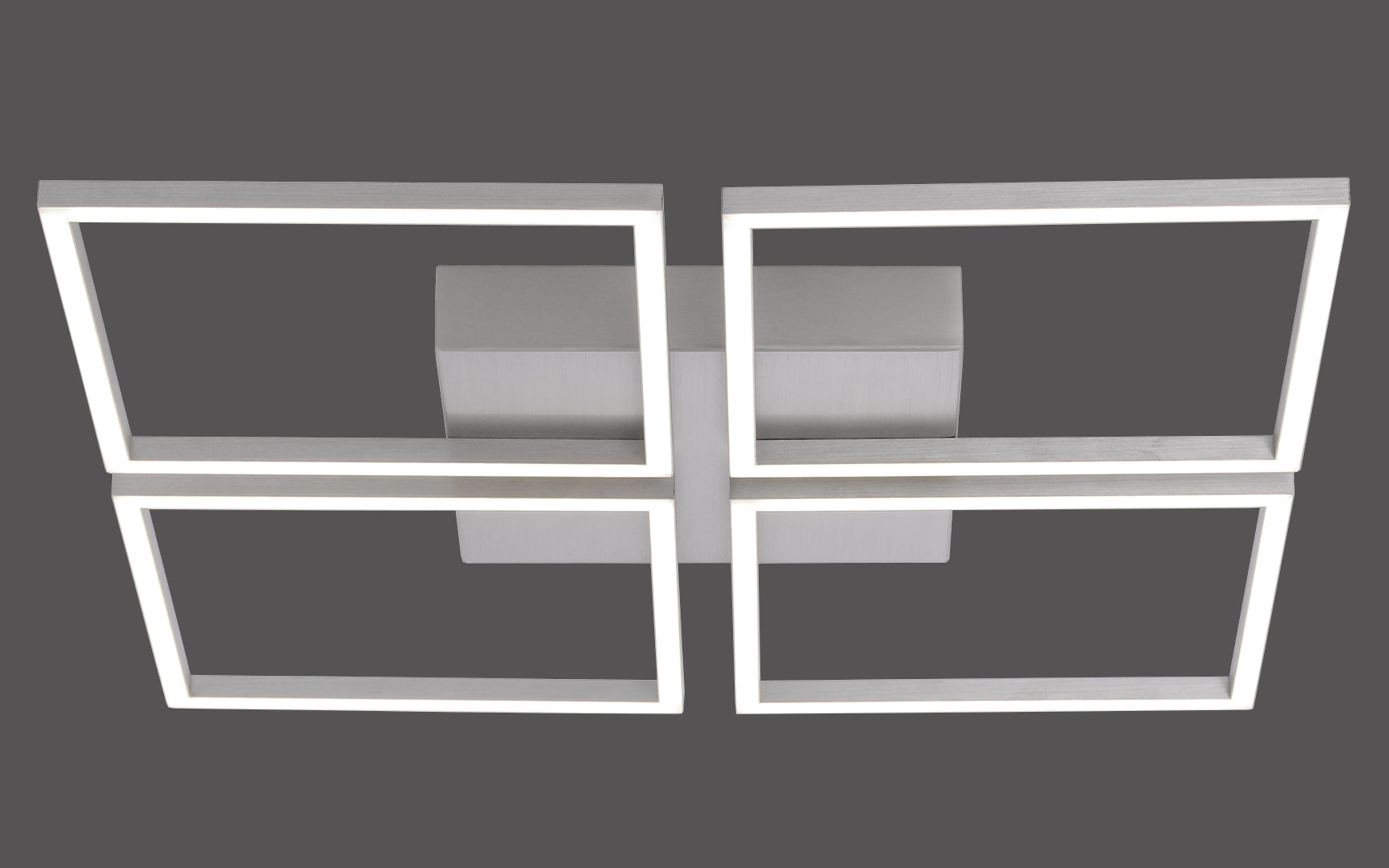 LED-Deckenleuchte Inigo in stahlfarbig, 4-flammig 52,5 cm x 52, 5 cm