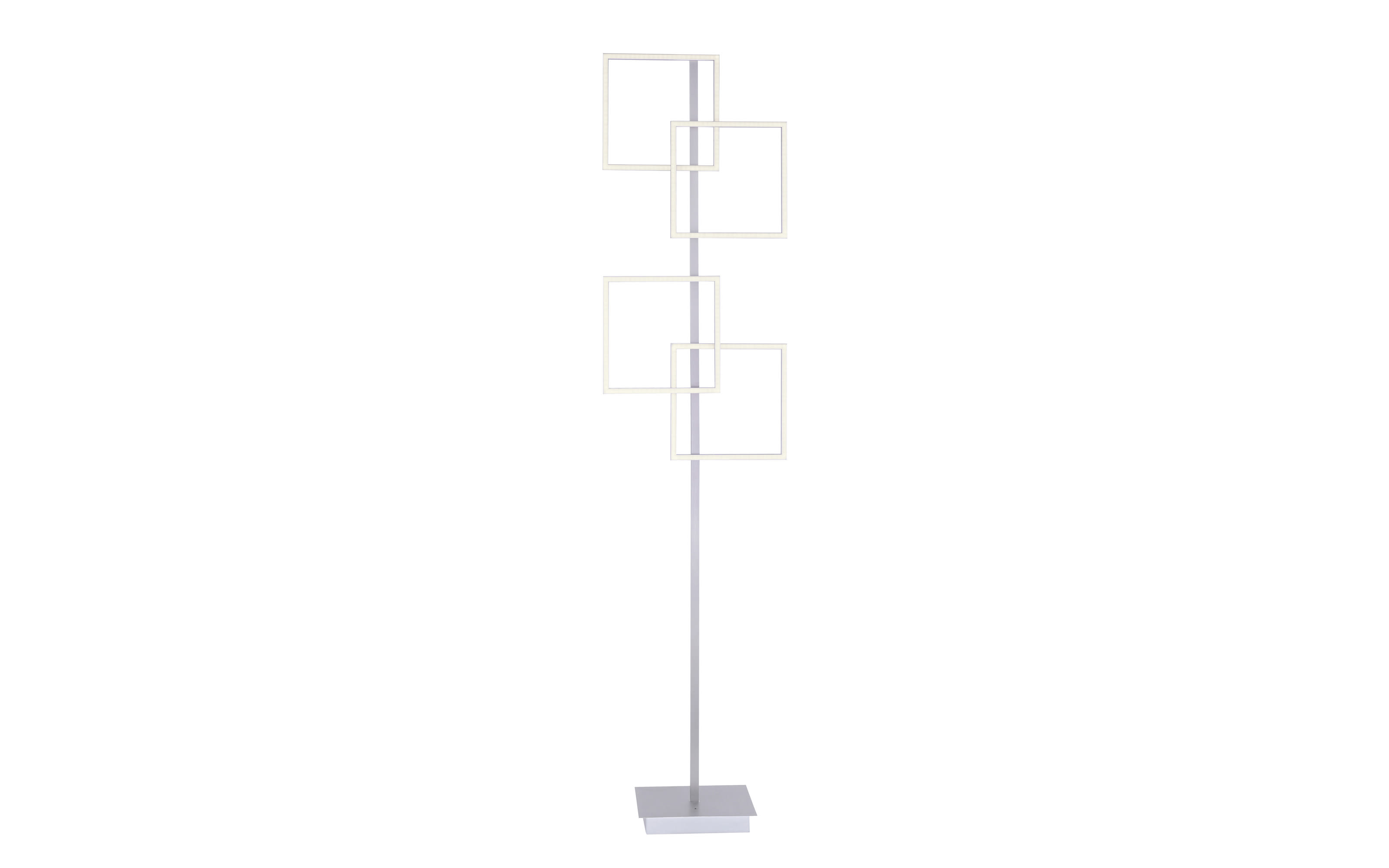 LED-Standleuchte Inigo in stahlfarbig, 165 cm
