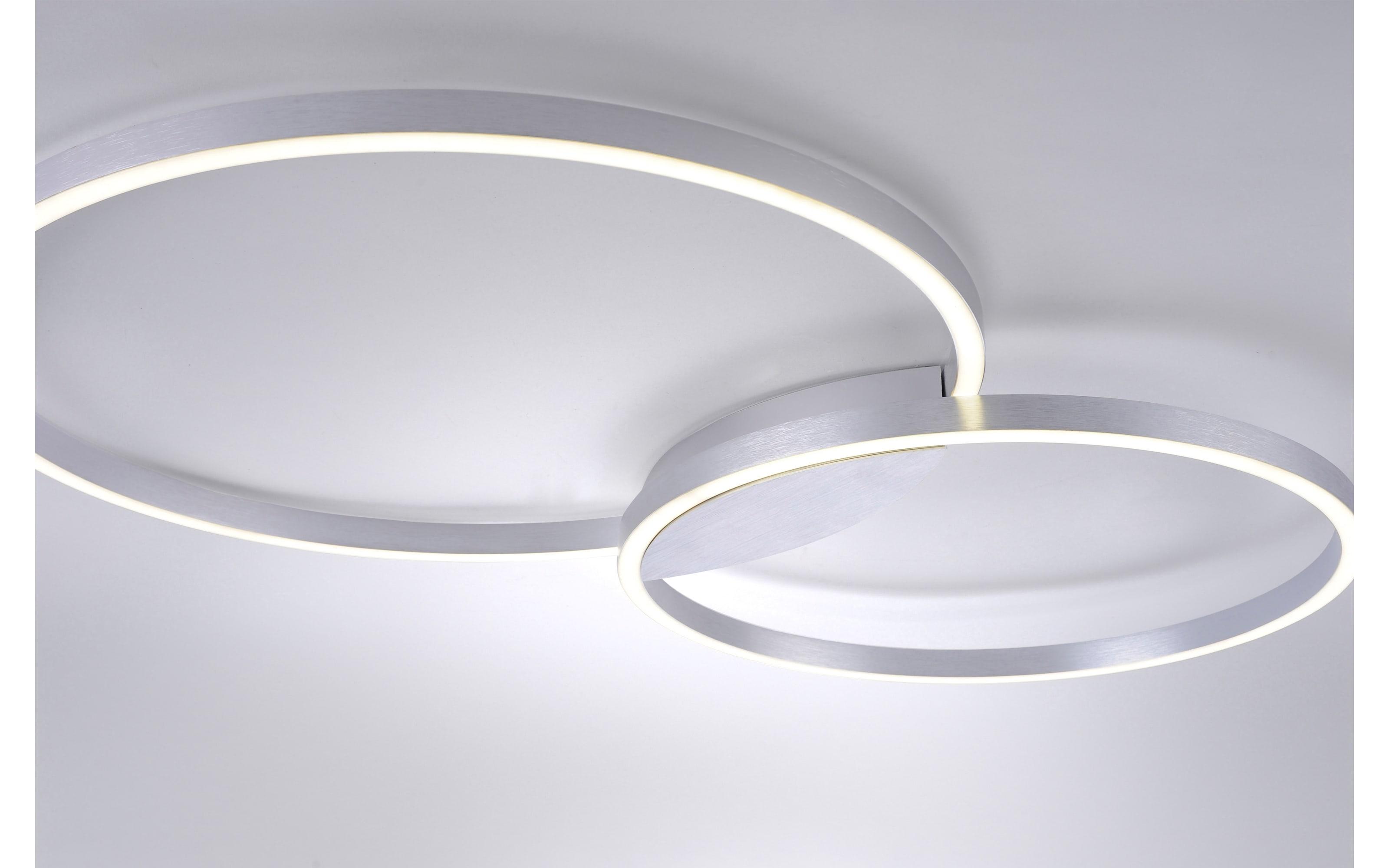LED-Deckenleuchte Q-Kate in aluminiumfarbig, 96 cm