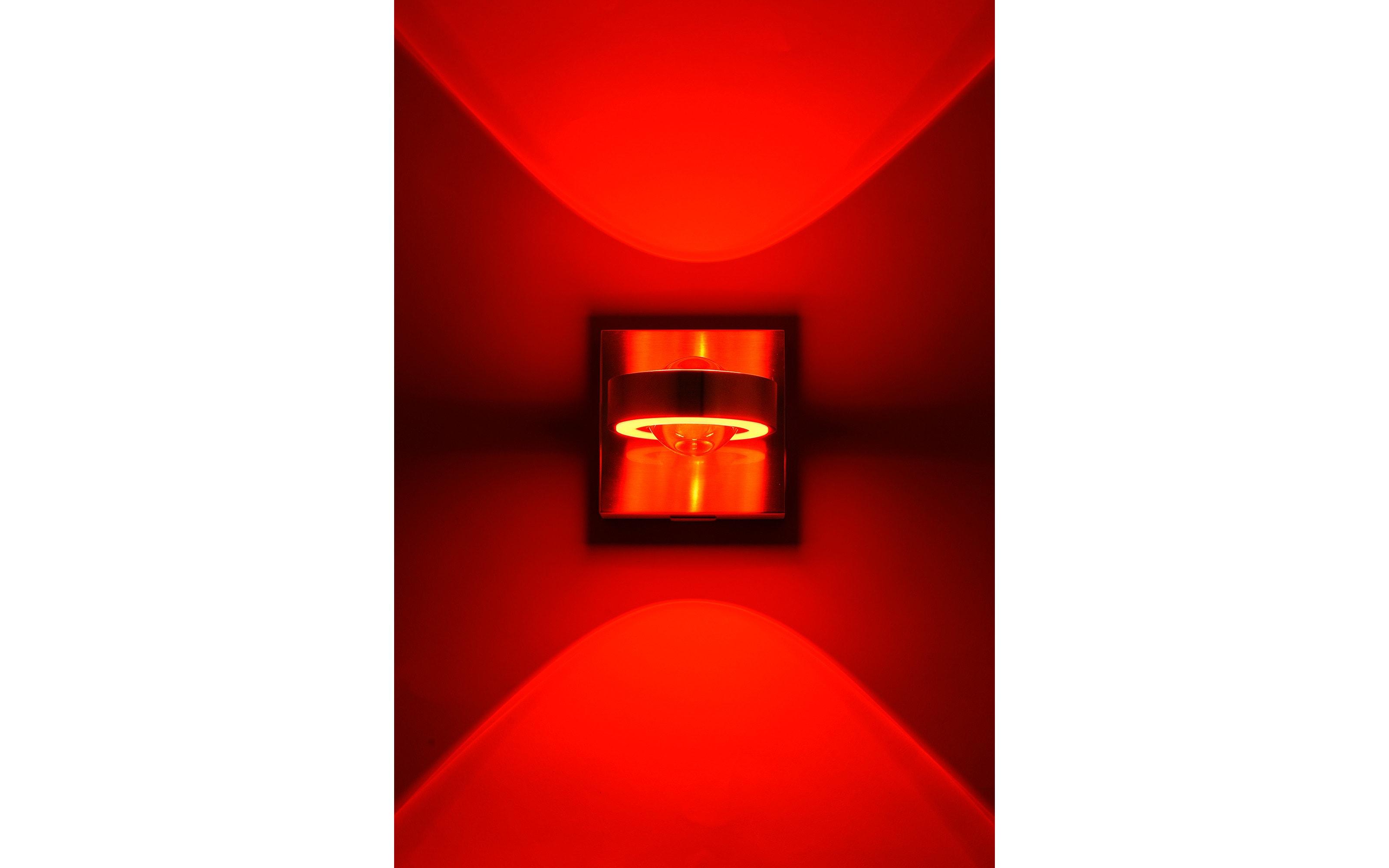 LED-Wandleuchte RGB CCT Q-Mia in stahlfarbig