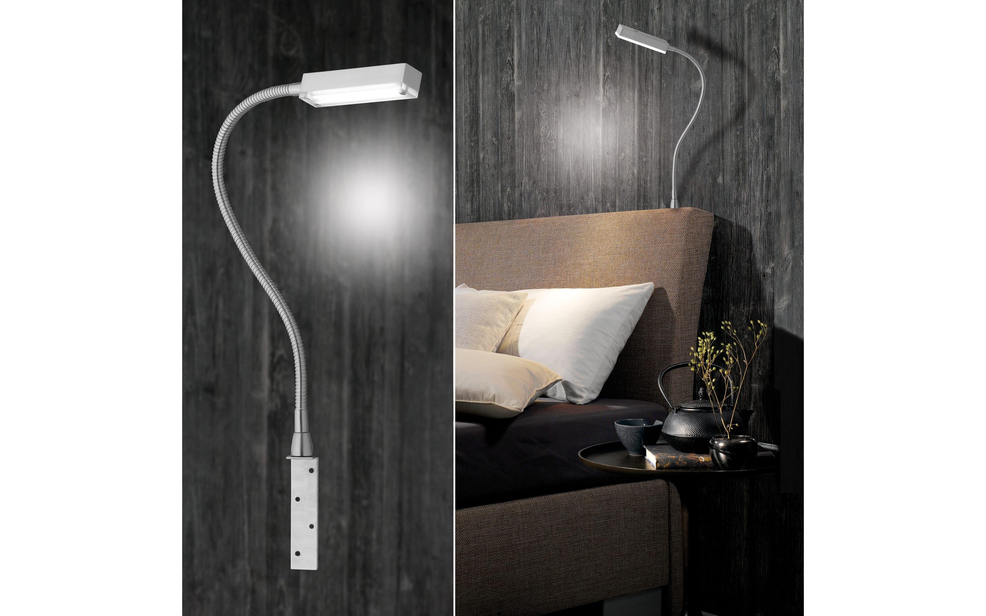LED-Bettleuchte Raik in nickel matt, 45 cm