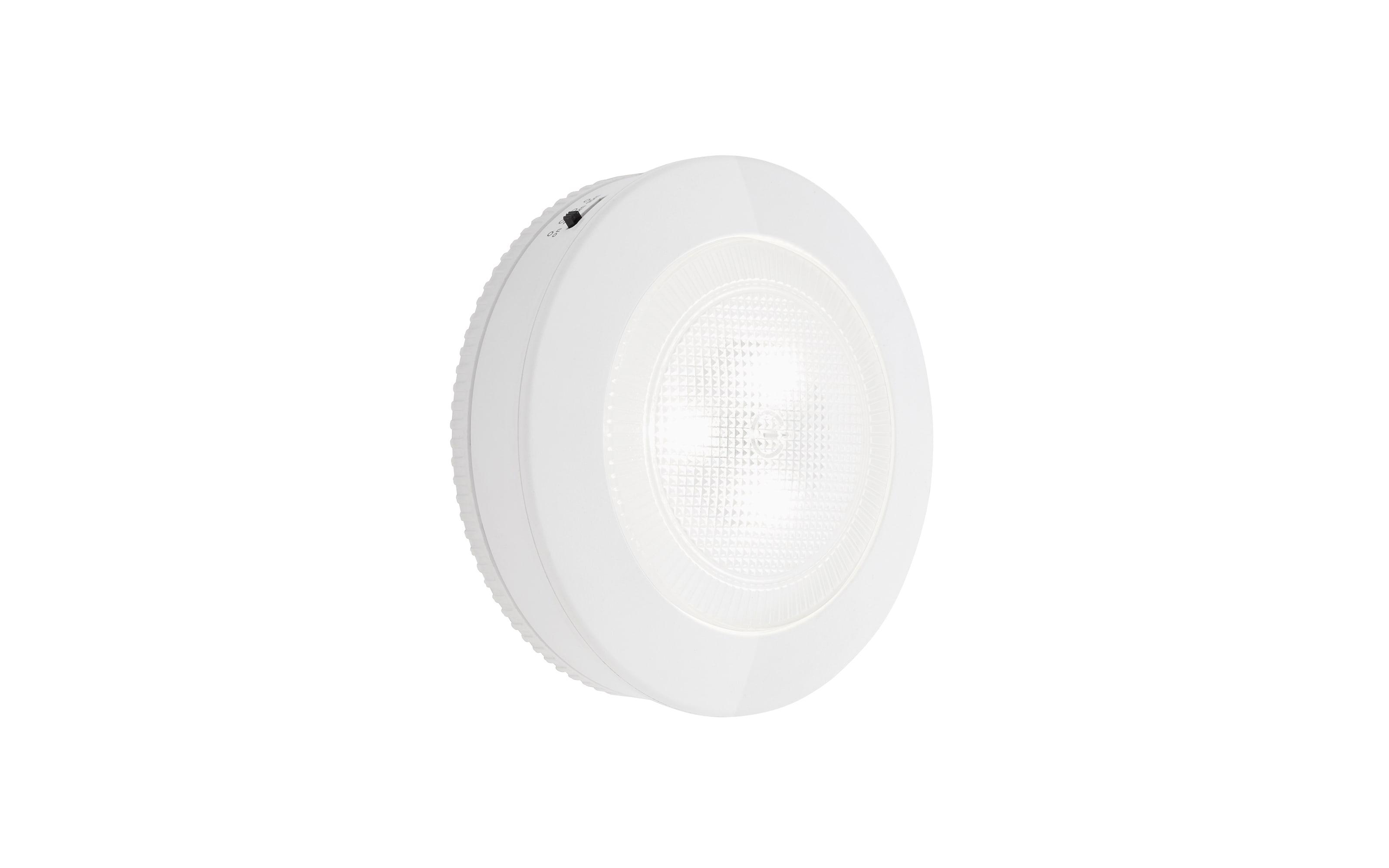 LED-Batterie-Push-Leuchte Tiri in weiß, 9 cm