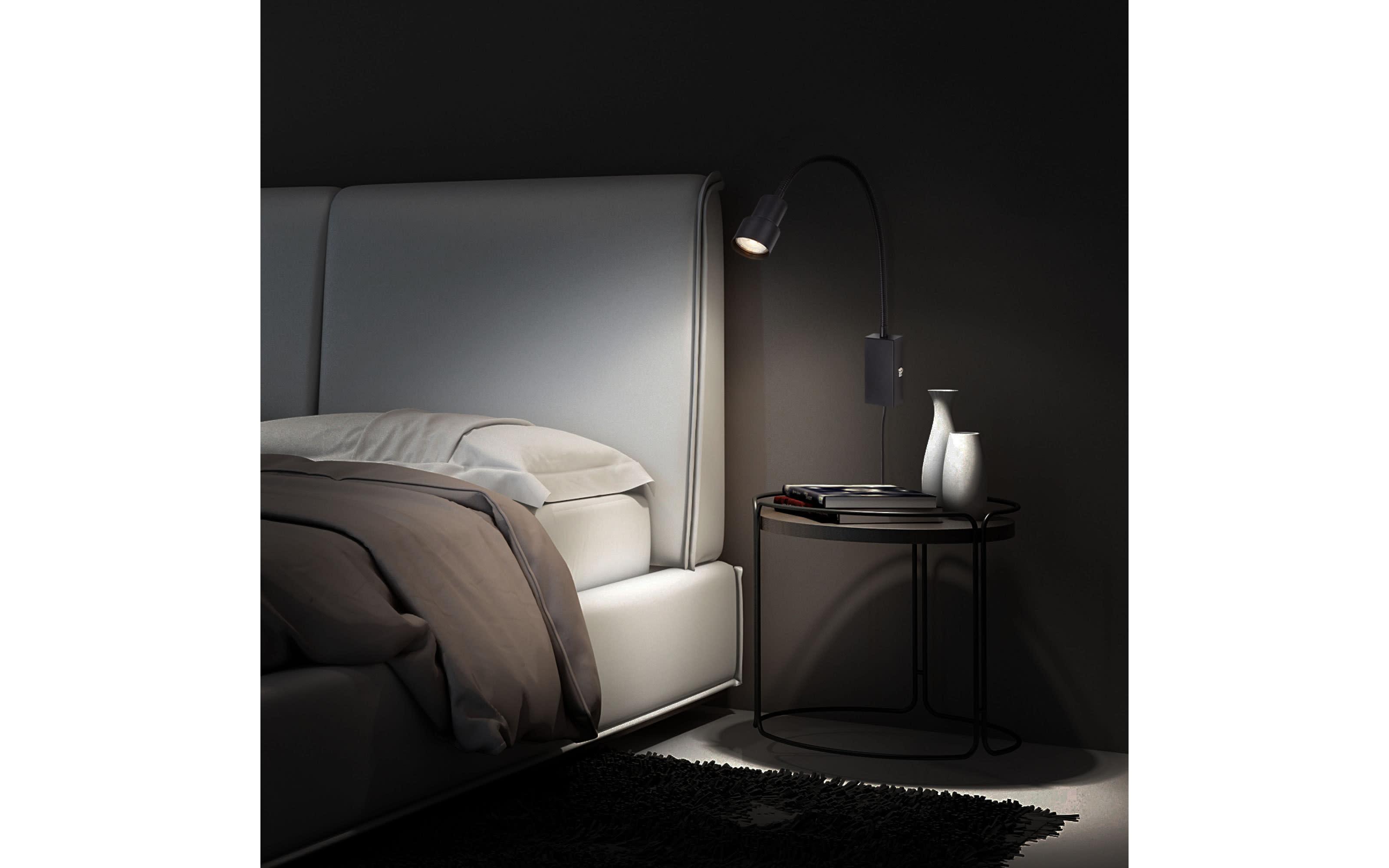LED-Wandleuchte Tusi in schwarz