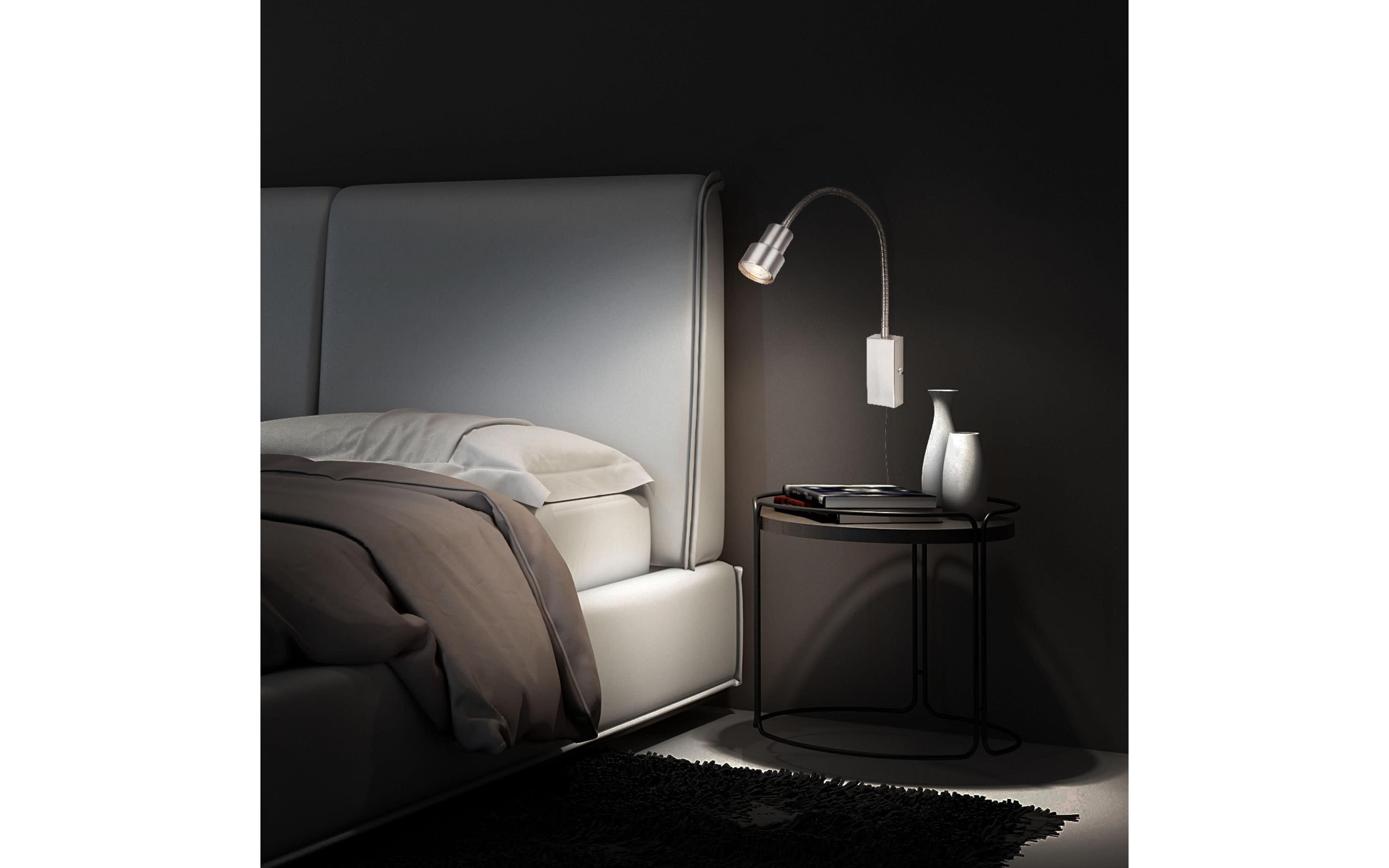 LED-Wandleuchte Tusi in nickel matt