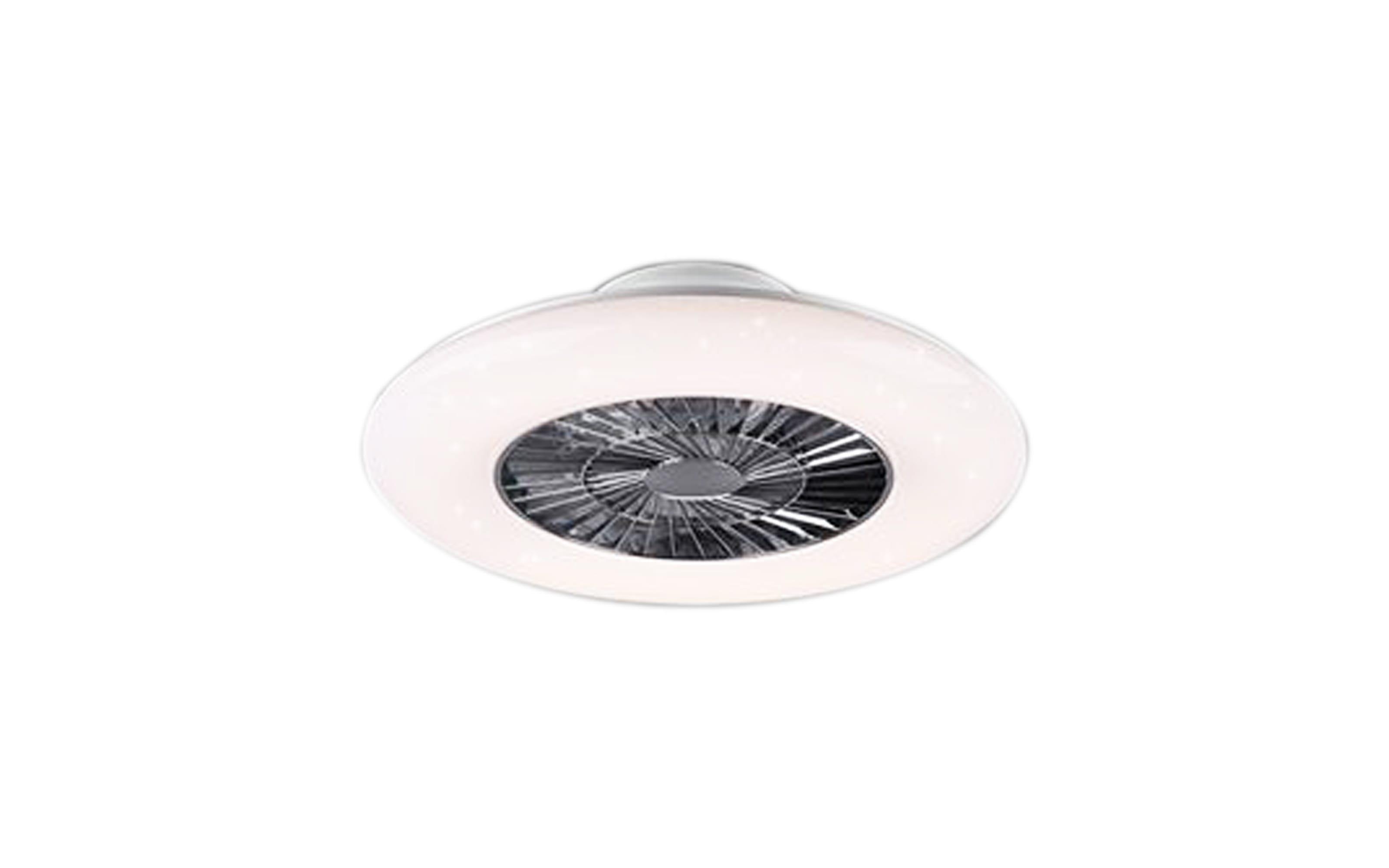 LED-Deckenleuchte/Ventilator Mekka CCT in weiß, 59,5 cm