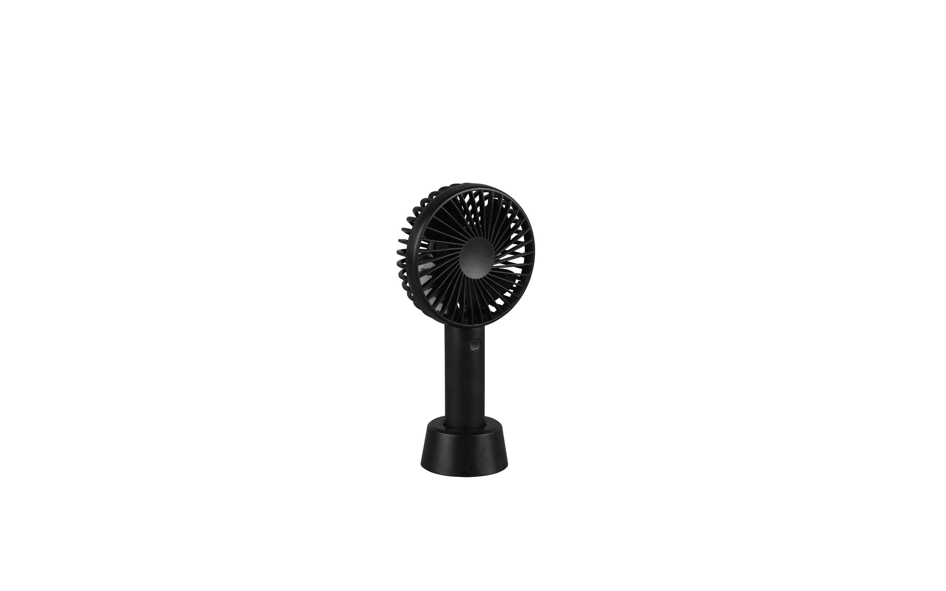 Handventilator Togo in schwarz, 21 cm