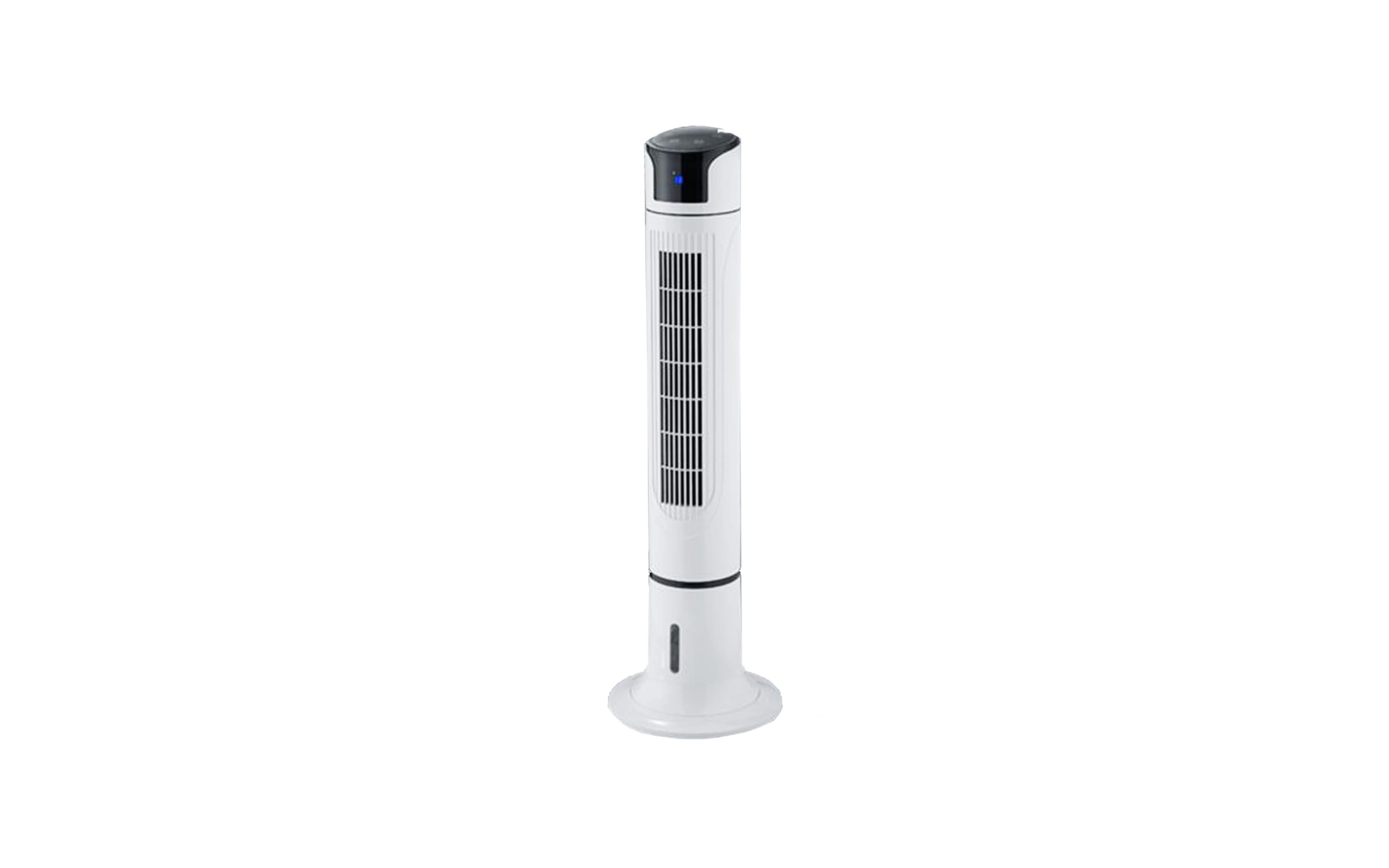 Standventilator Colombo in weiß mit Wassertank, 114 cm
