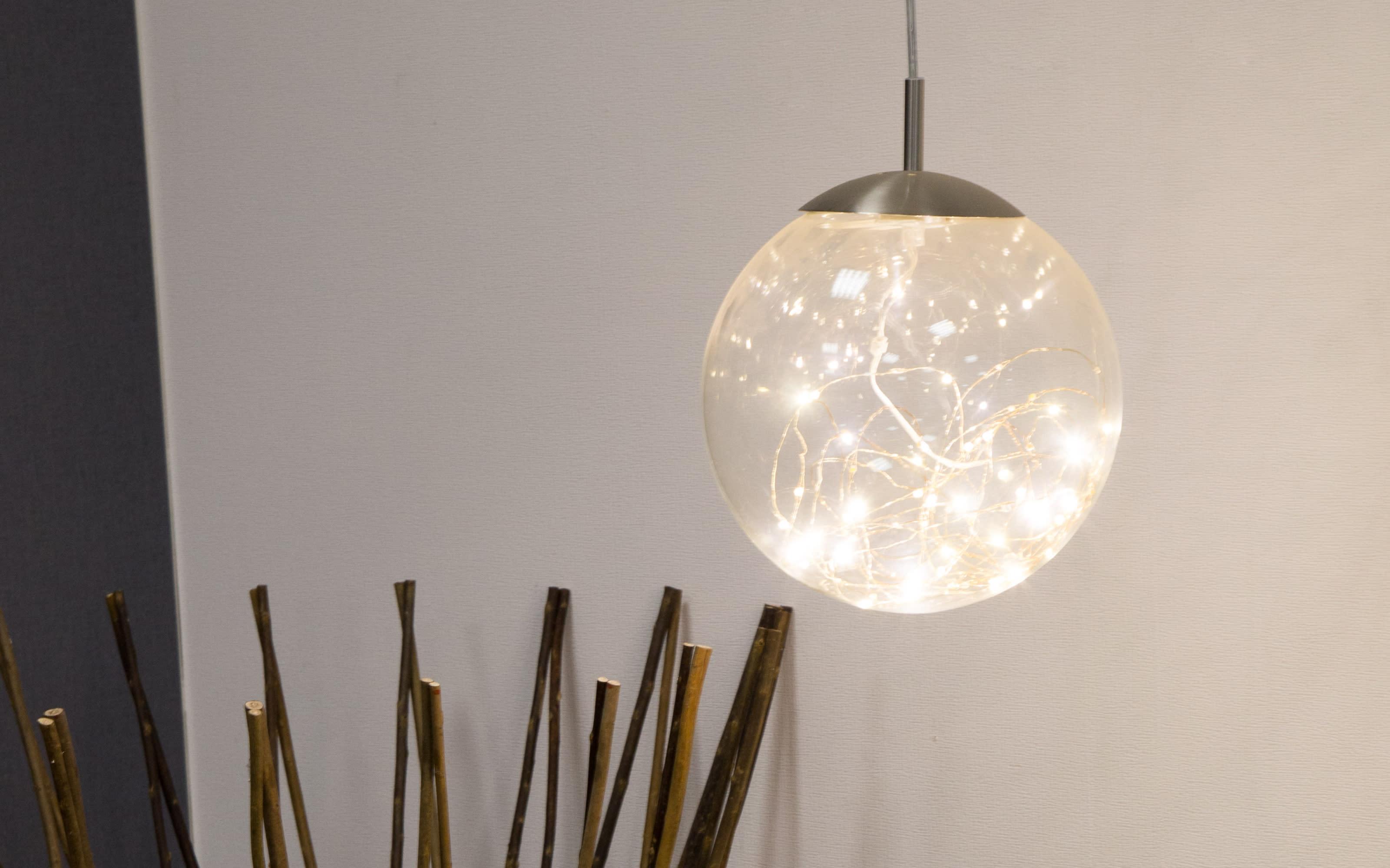 LED-Pendelleuchte Lights in klar, 30 cm
