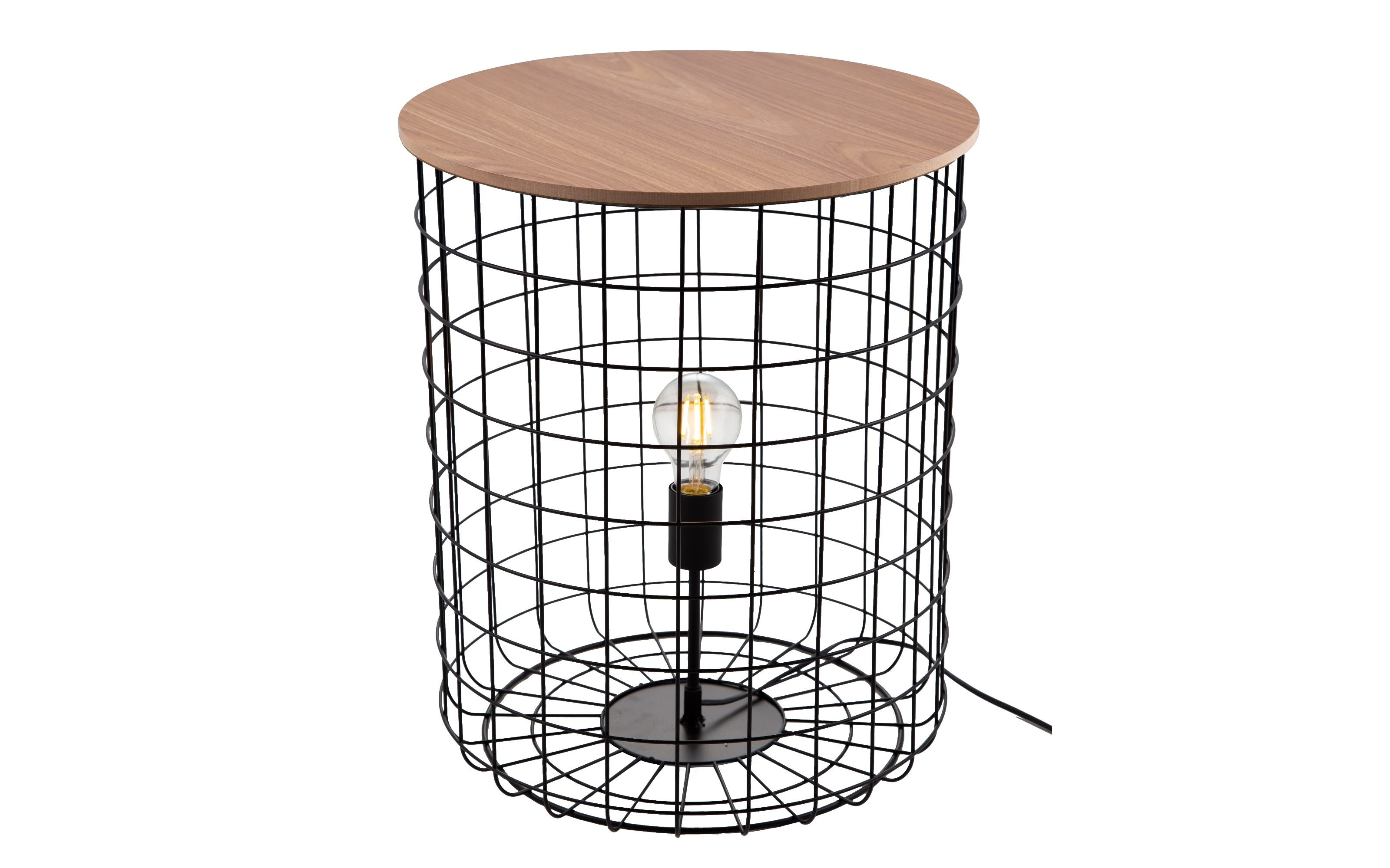 Tischleuchte Sila in schwarz, 50 cm