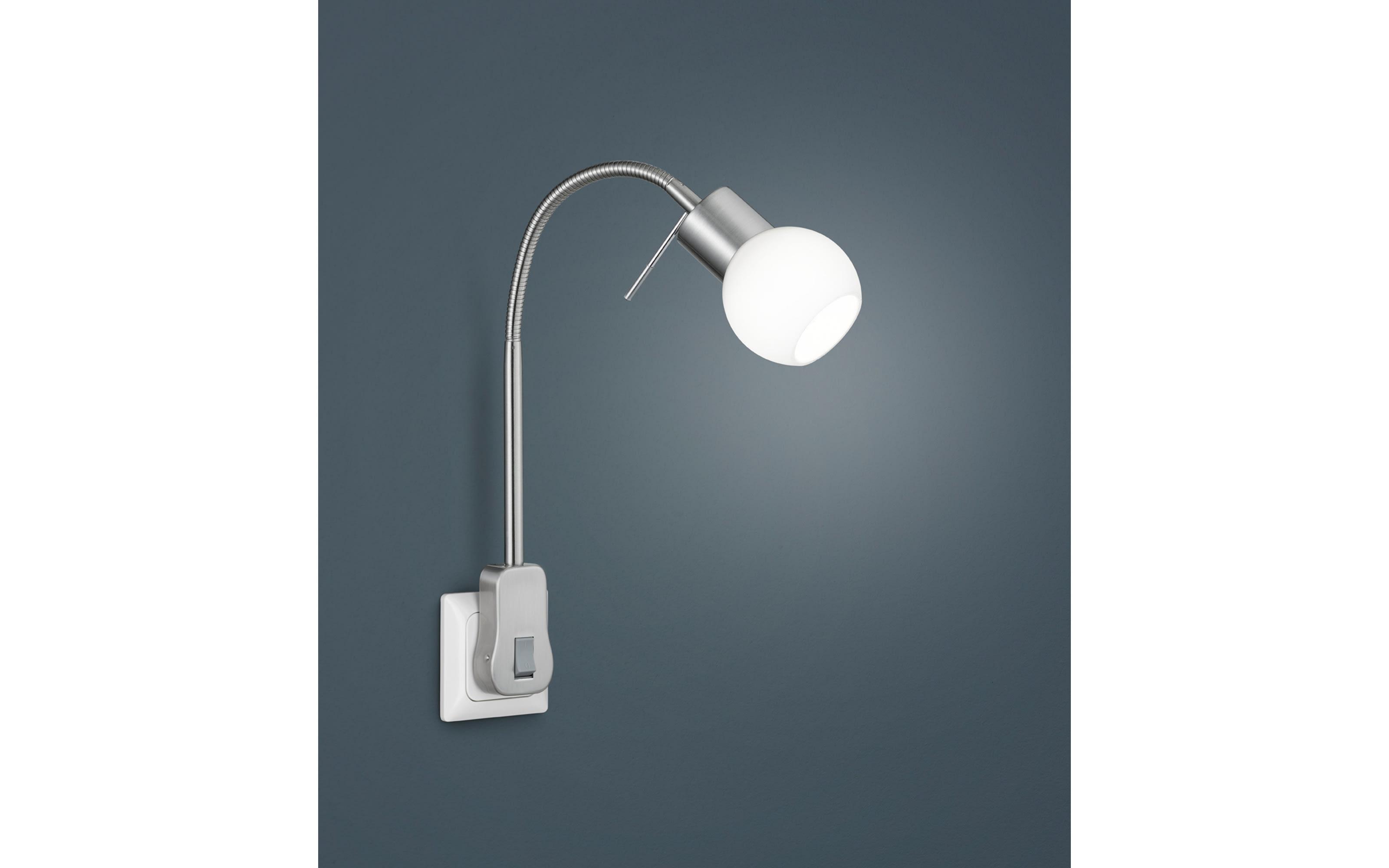 LED-Steckdosenleuchte Fred in nickel matt