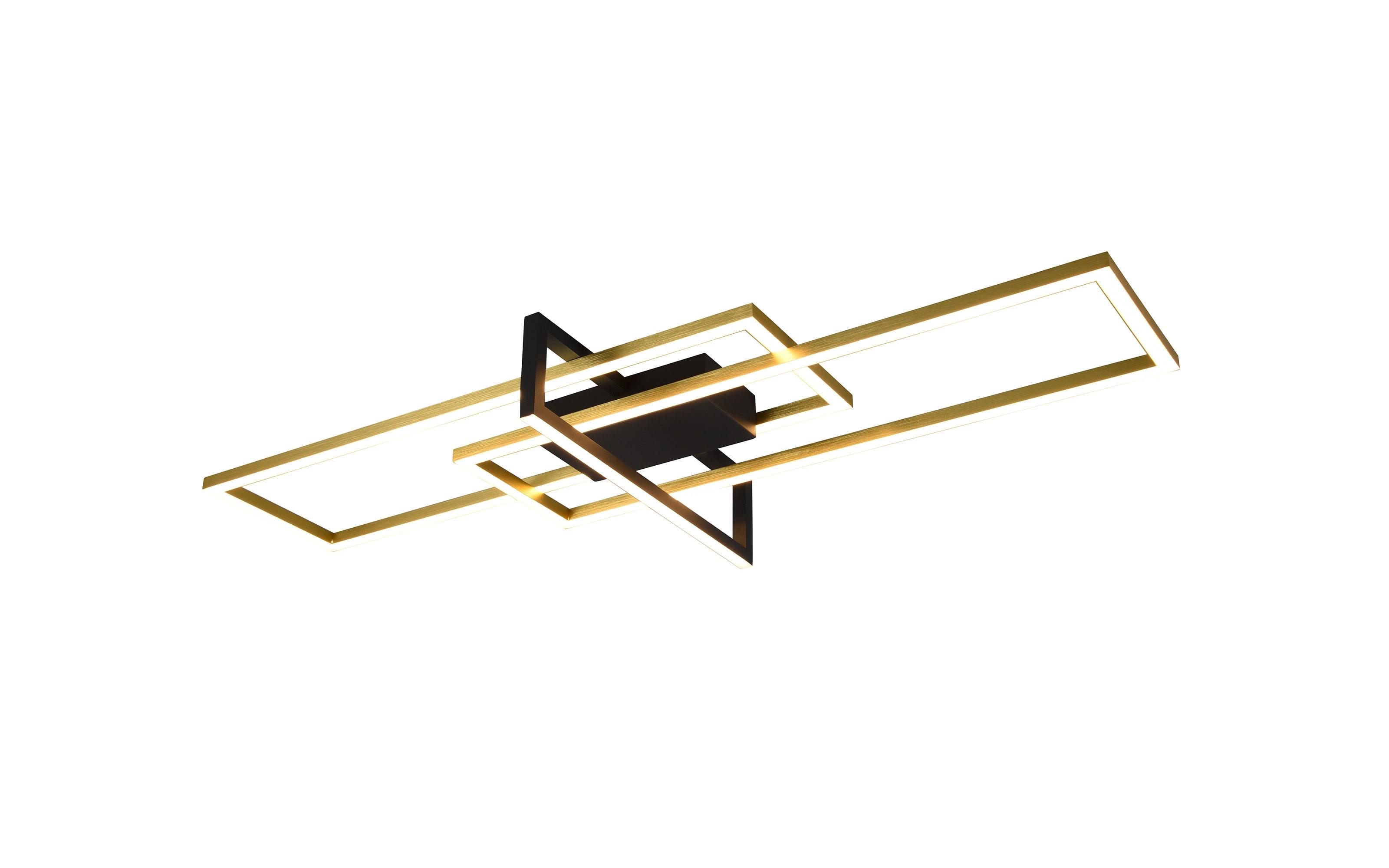LED-Deckenleuchte Salinas in messing/schwarz, 100 cm